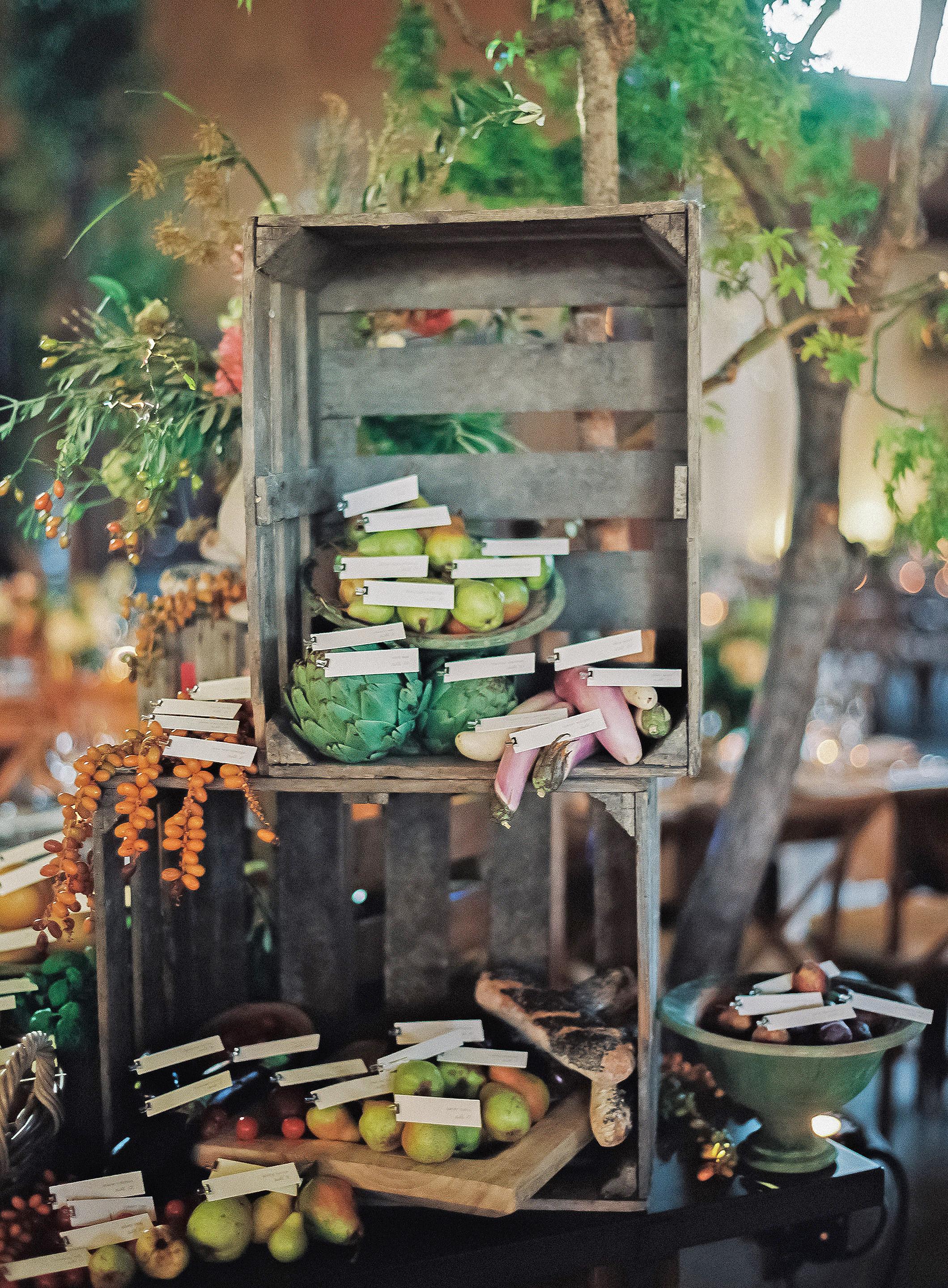 emily siddartha wedding escortcards produce crates