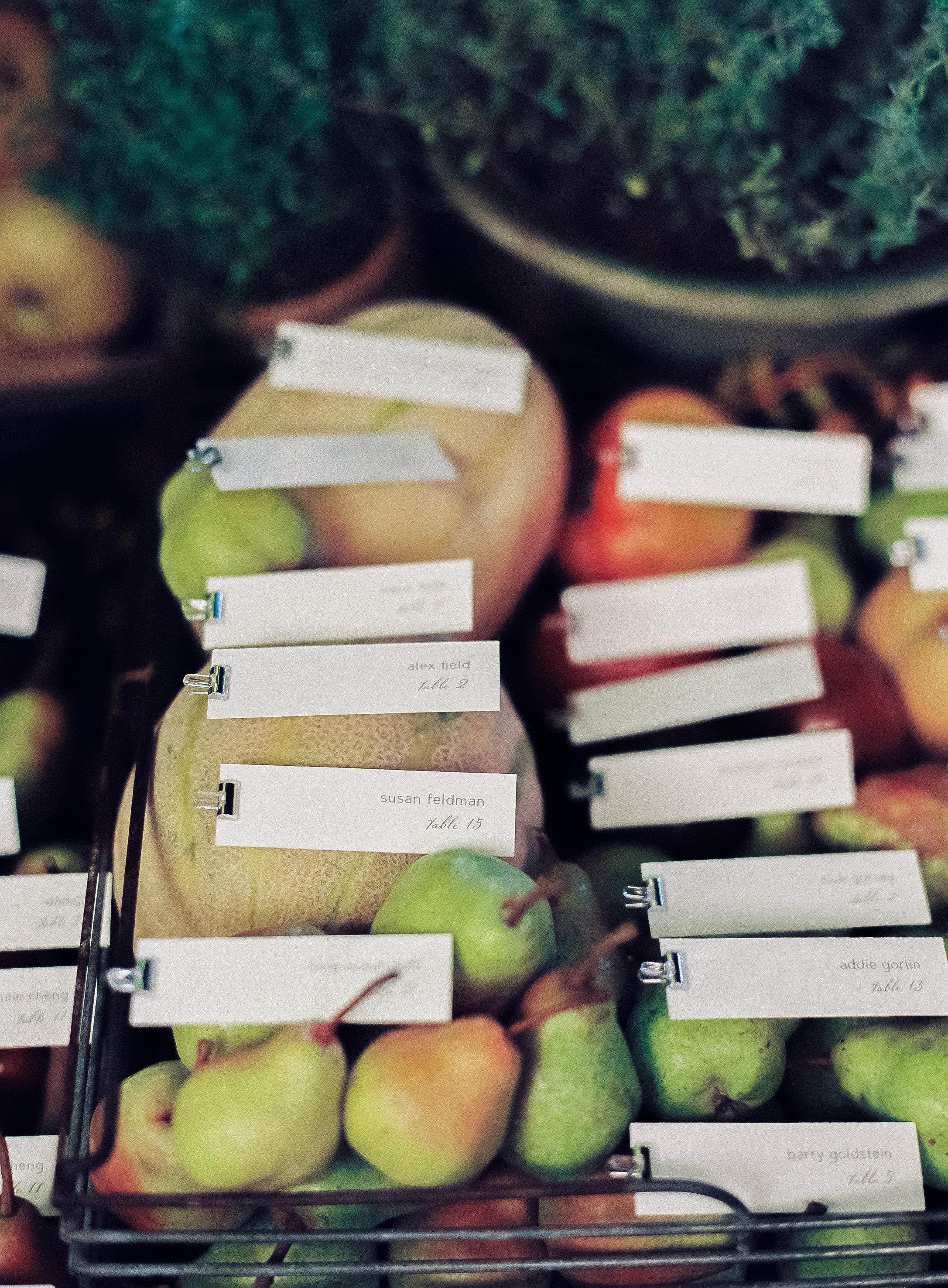 emily siddartha wedding escortcards fruit