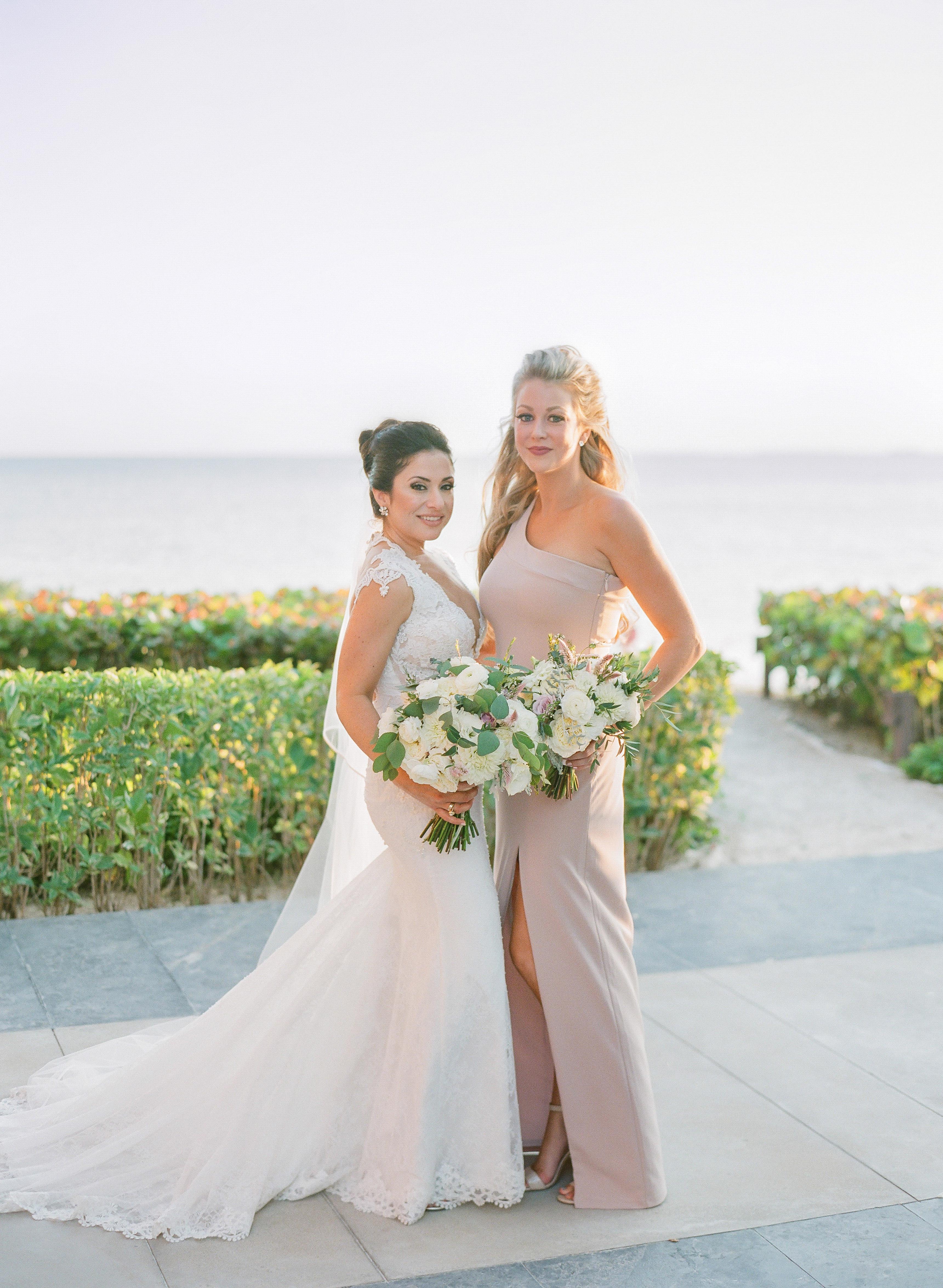 vicky james mexico wedding bride maid of honor