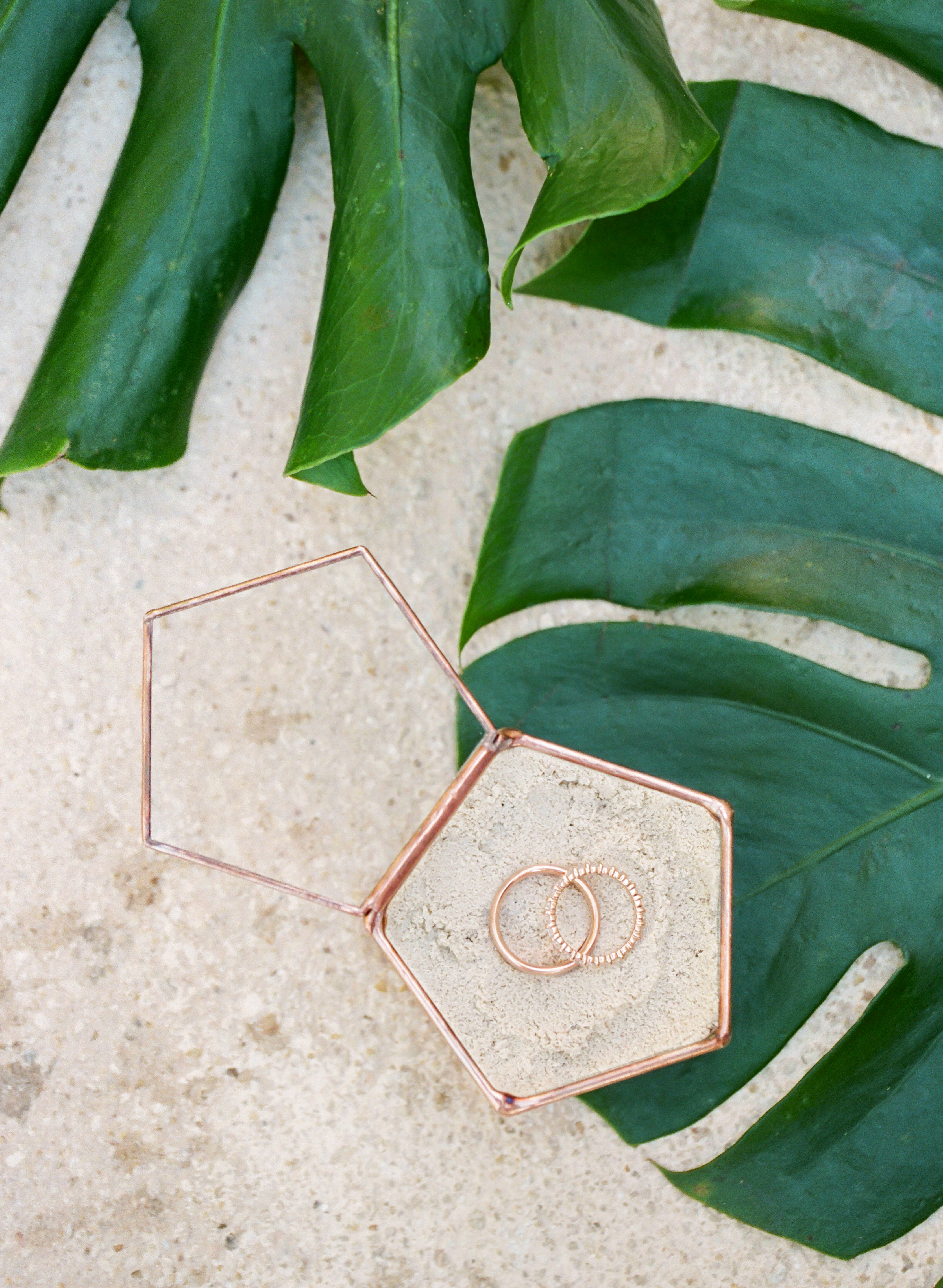 vicky james mexico rings leaf geometric