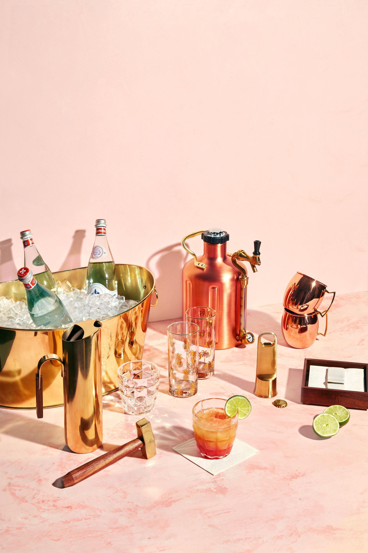 elegant metal cocktail supplies