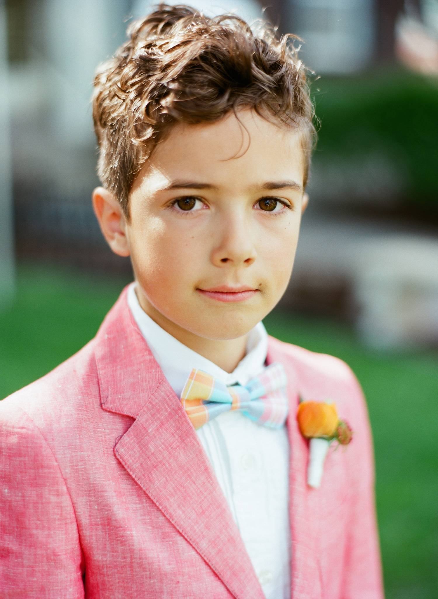 Summer Ring Bearer Boutonnière
