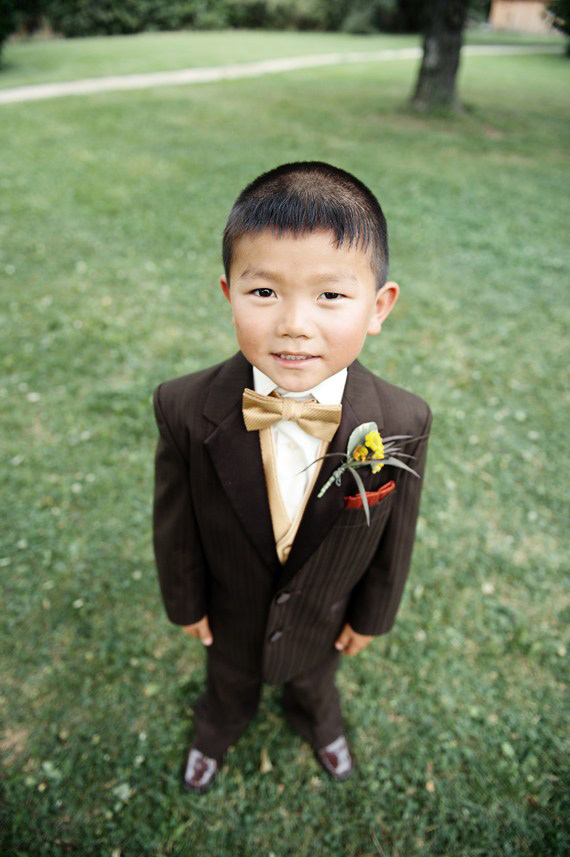 Yellow Ring Bearer Boutonnière