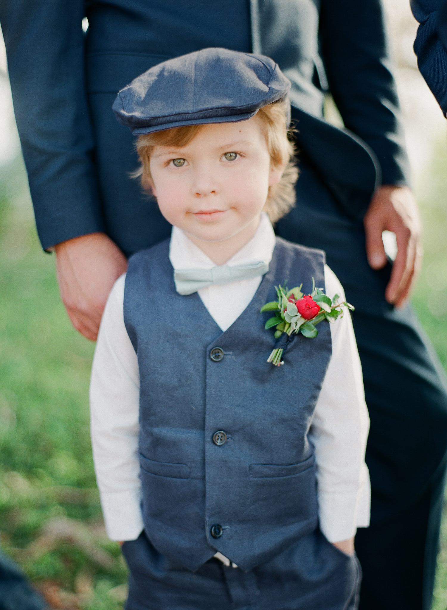 Red Ring Bearer Boutonnière