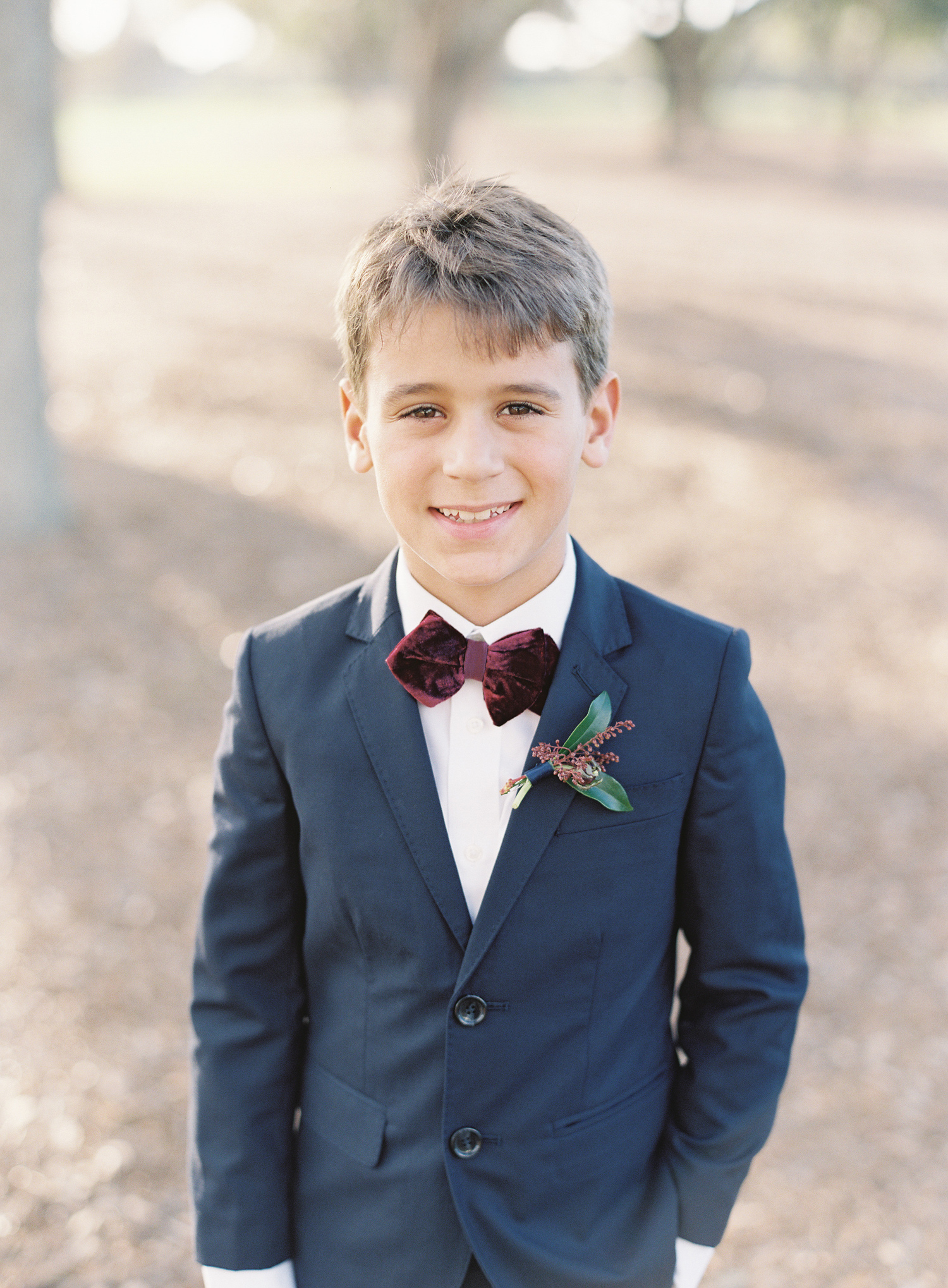 Winter Ring Bearer Boutonnière