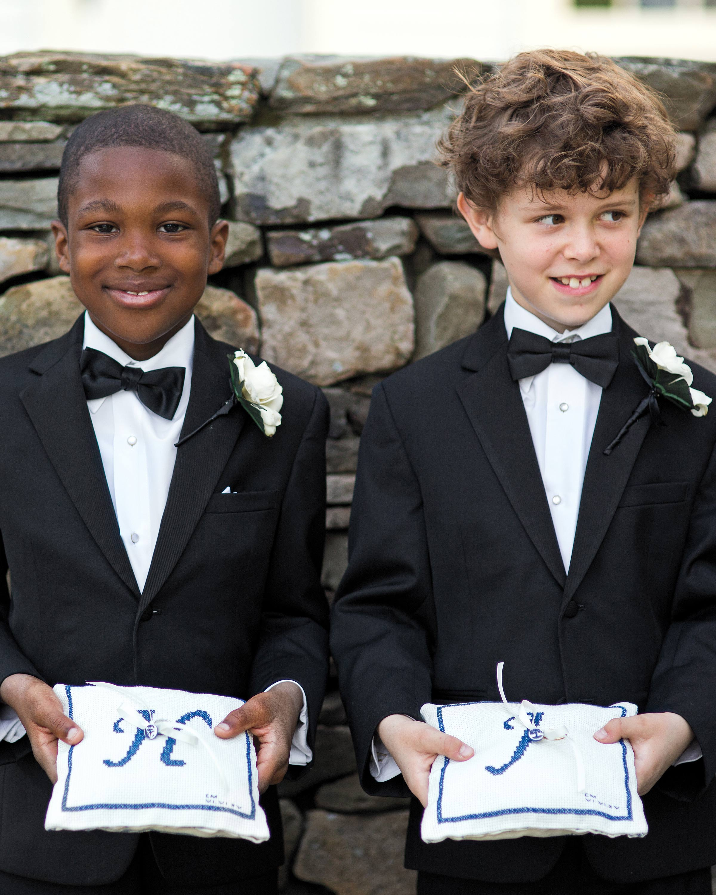 Matching Ring Bearer Boutonnières