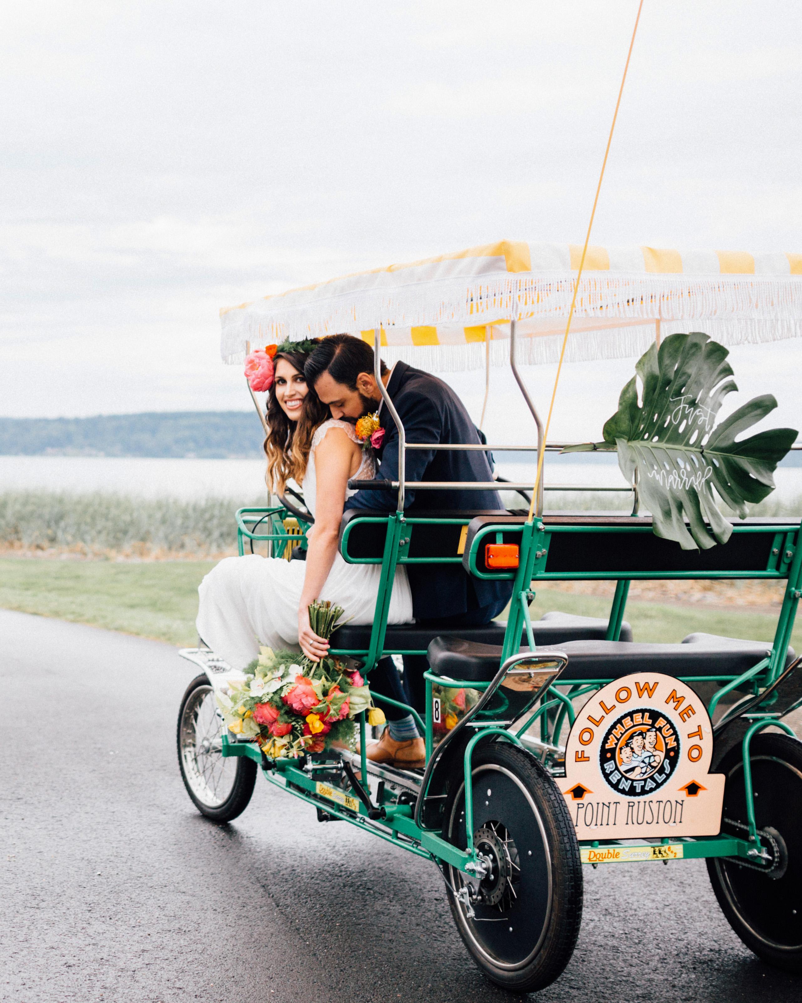 wedding exits surrey bike