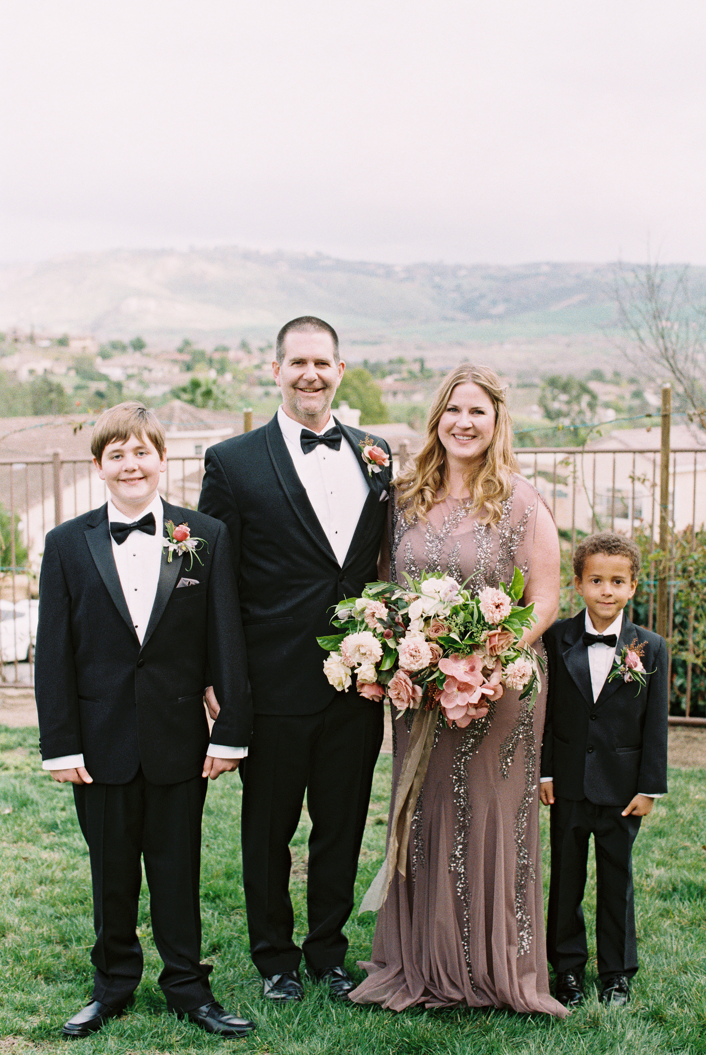 surprise wedding couple family two boys