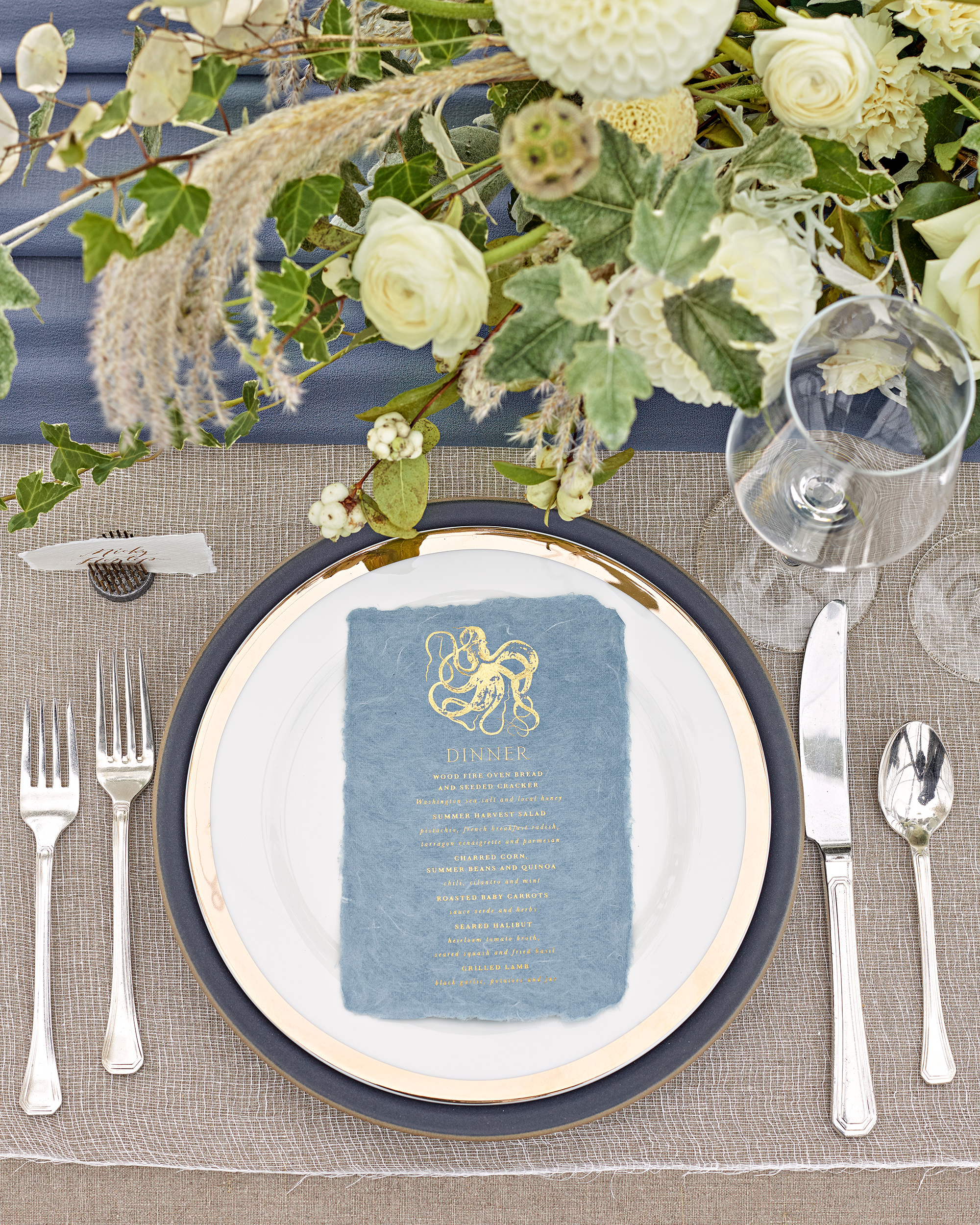 kaitlin dan wedding place setting