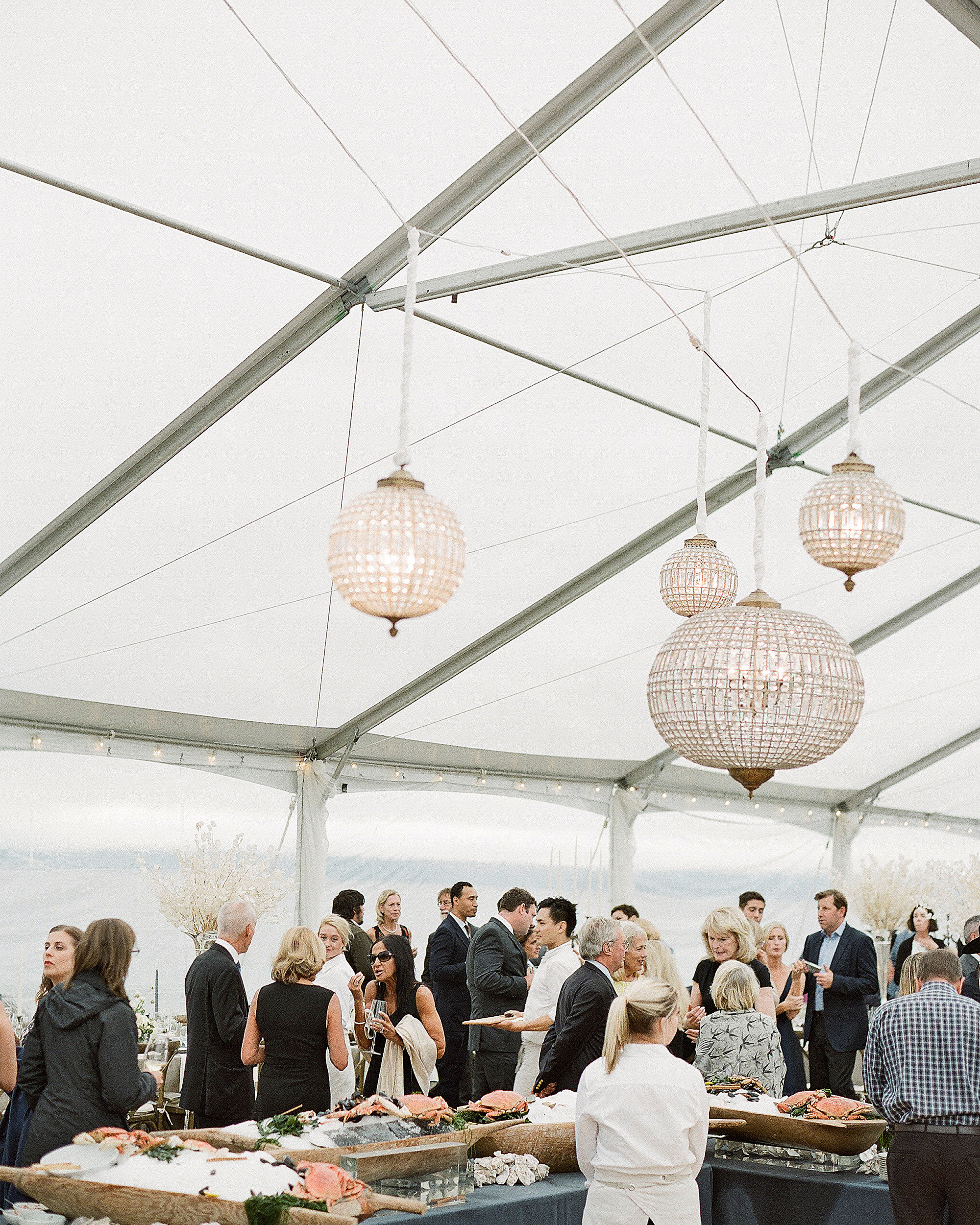 kaitlin dan wedding raw bar lanterns