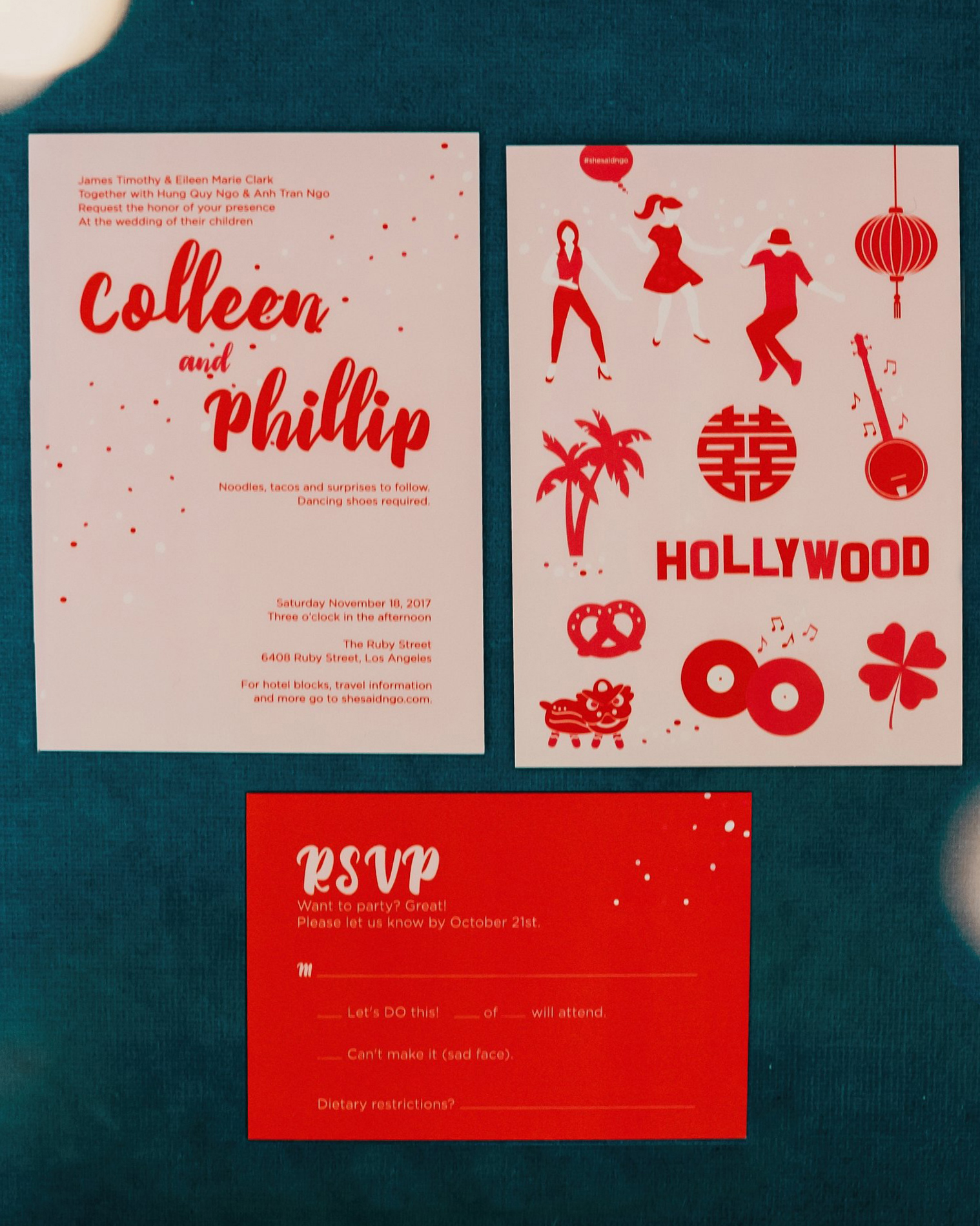 colleen pip wedding invite