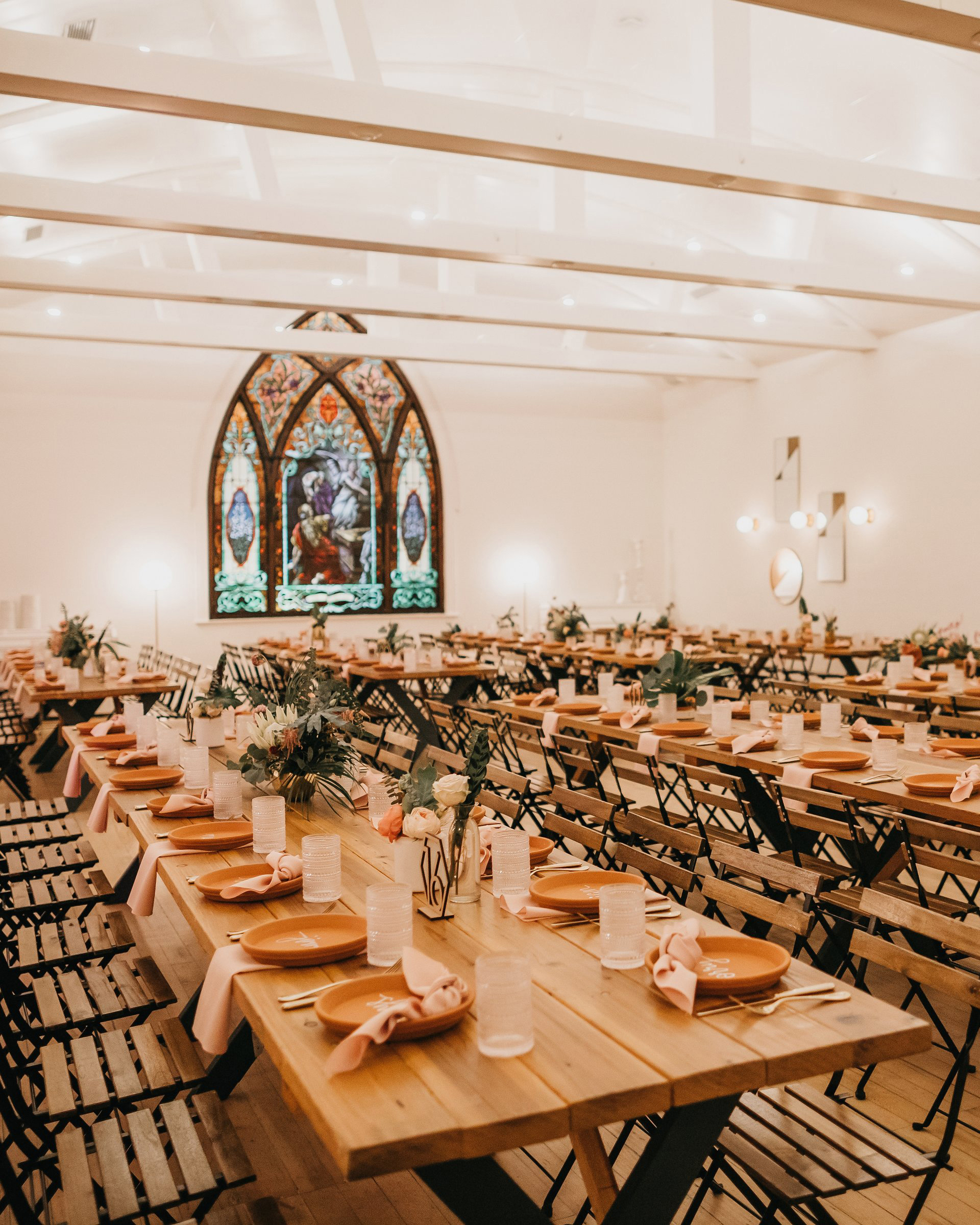 colleen pip wedding reception tables