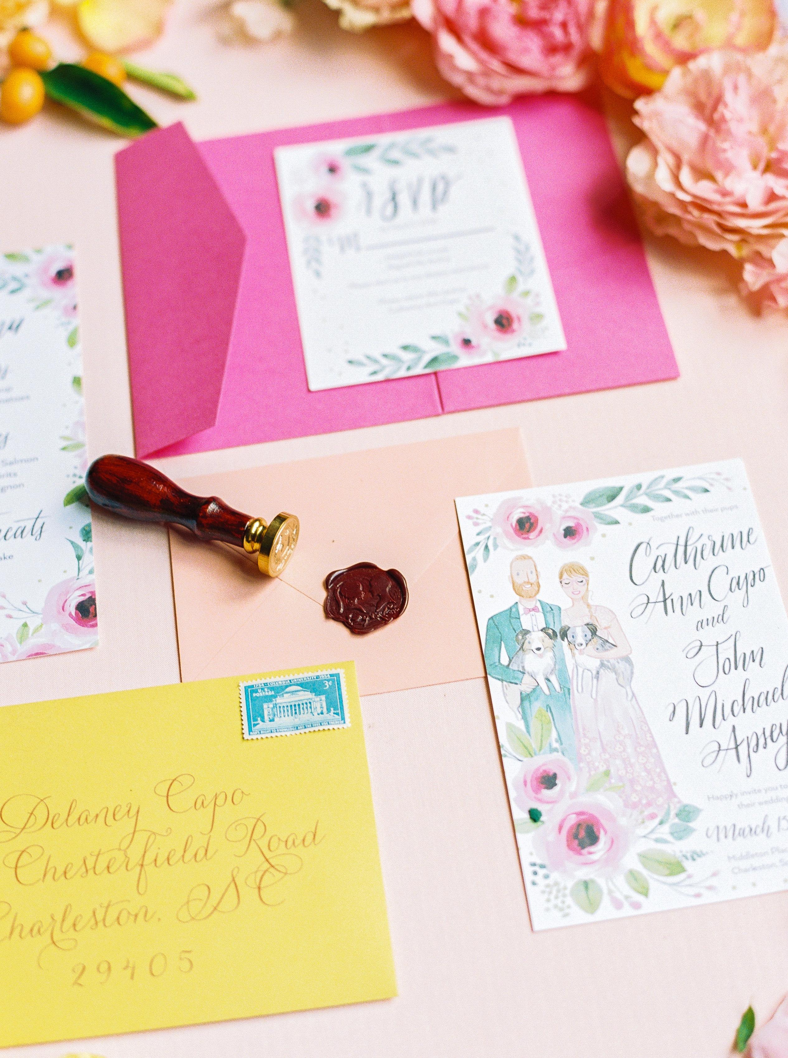 catherine john micro wedding invite perry vaile