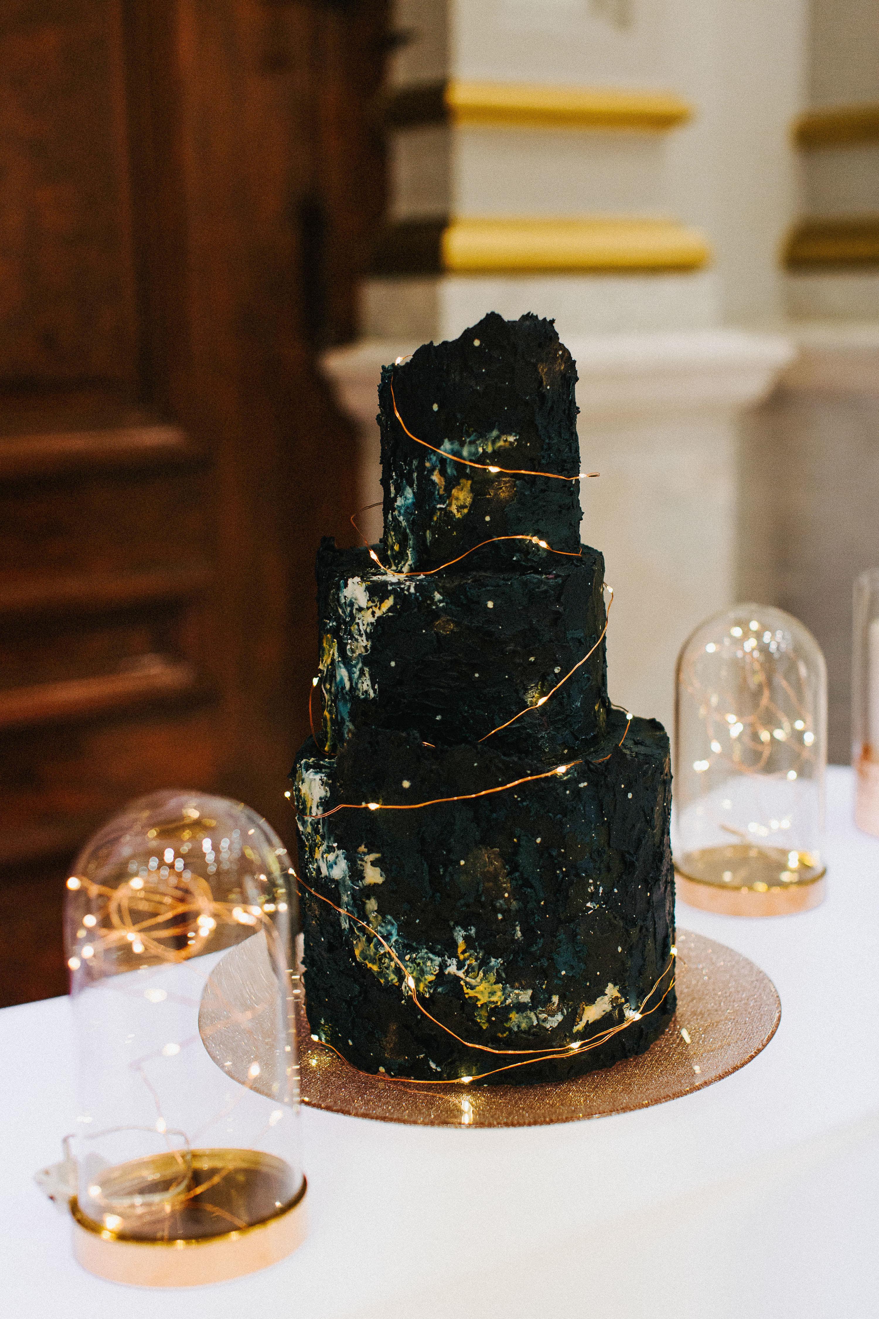 black wedding cake the more we see cakelifebakeshop