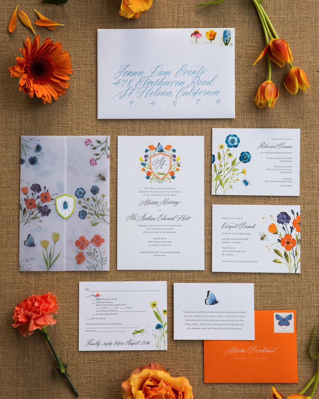 alessa andrew wedding invitation