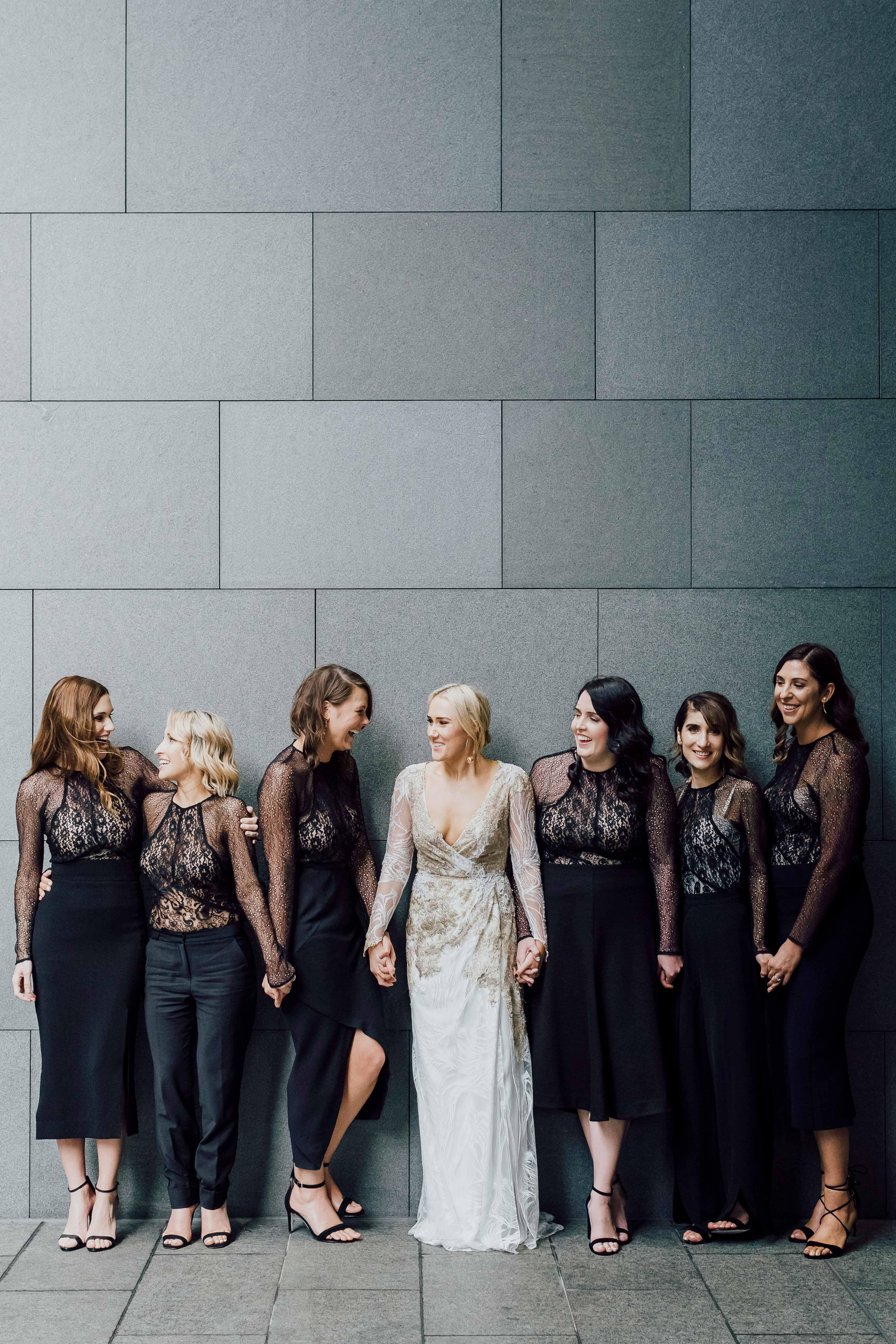 two piece bridesmaids james simmons photography black