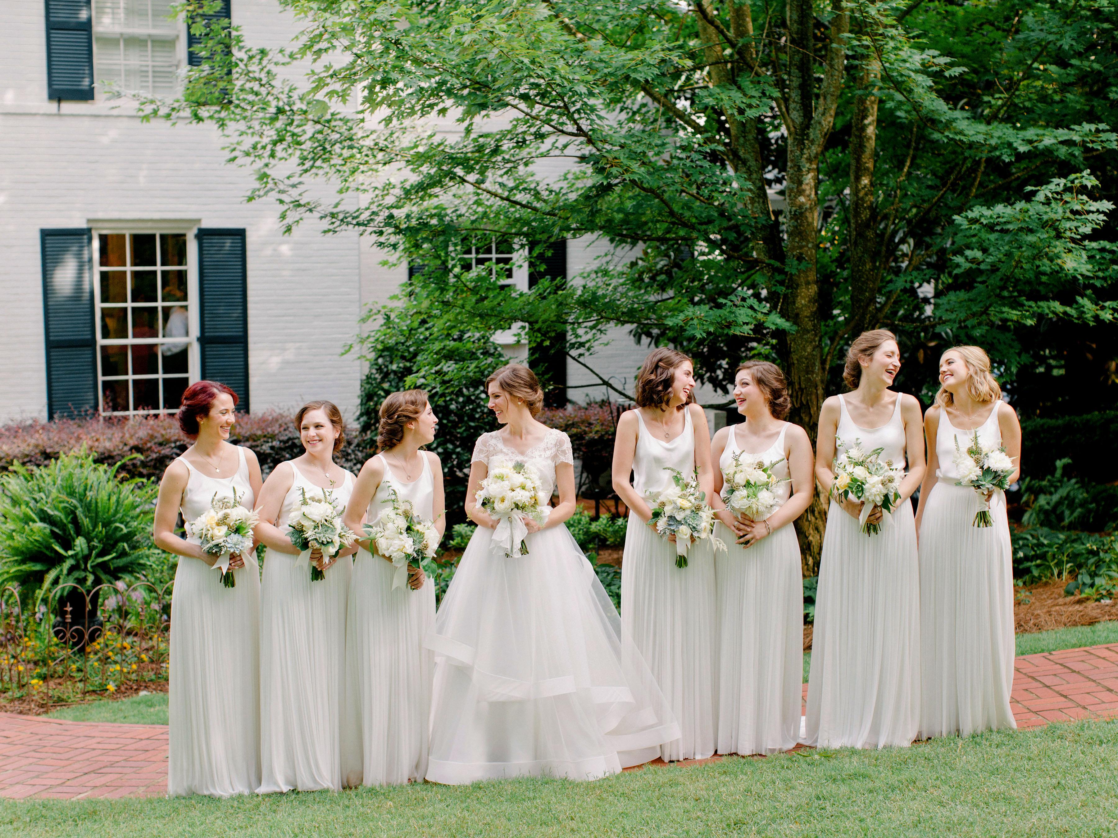 two piece bridesmaids amy arrington white