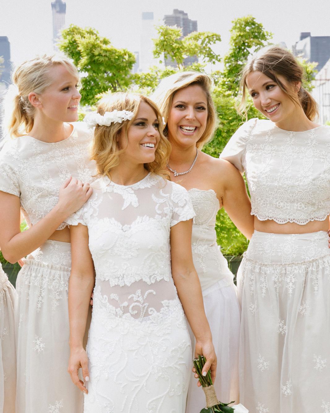 two piece bridesmaids levi stolove white