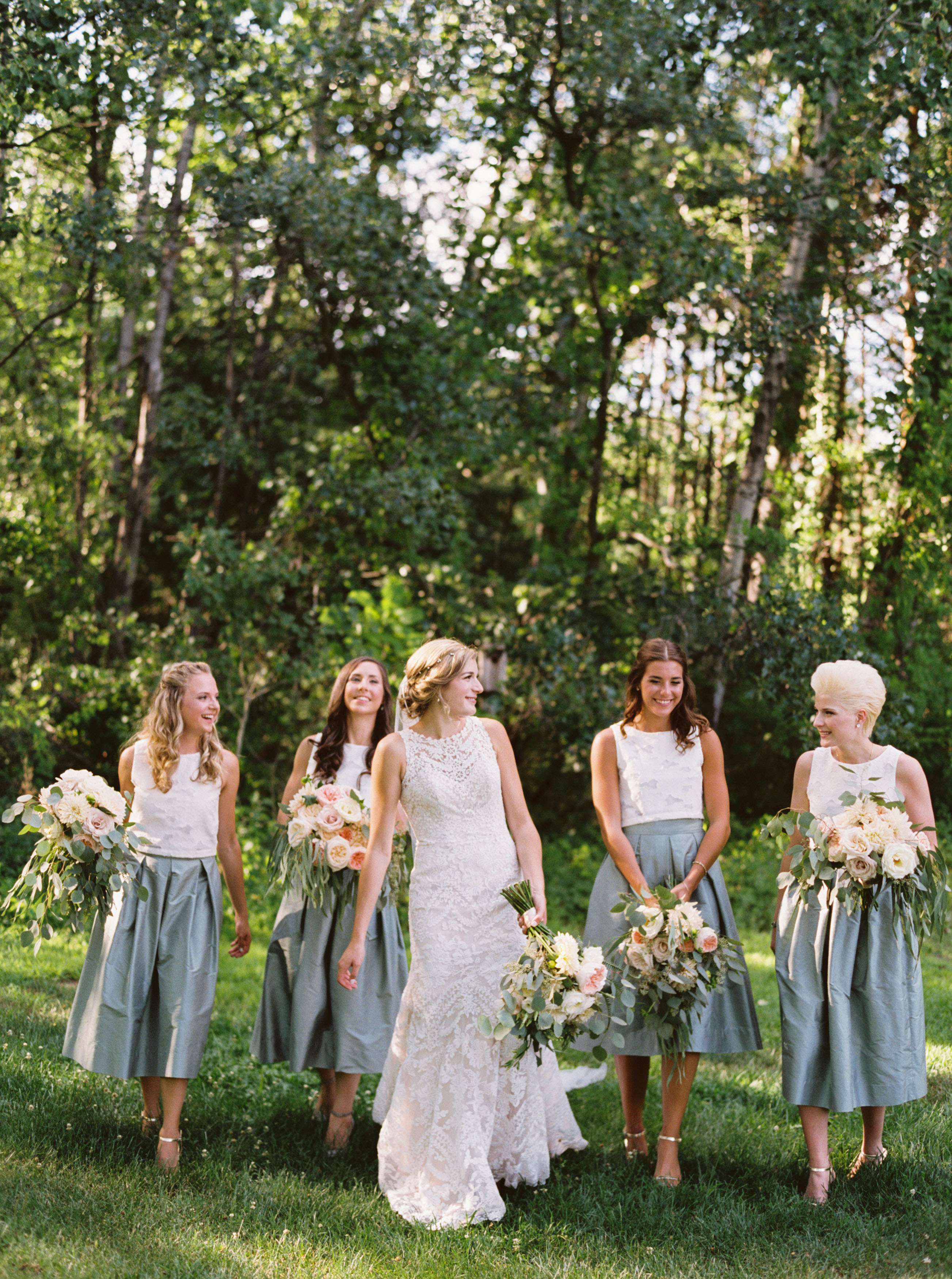 two piece bridesmaids jessica rose photo teal