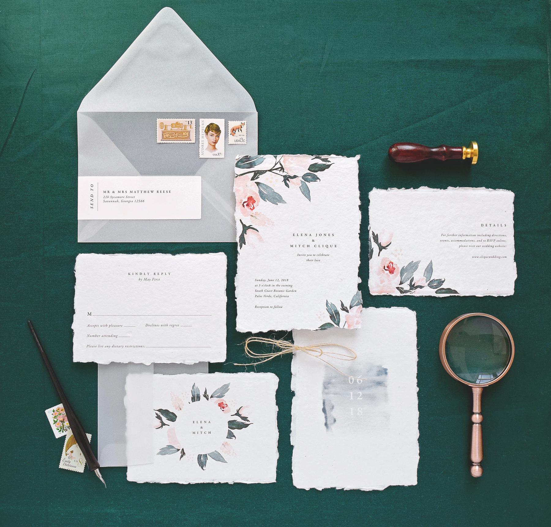 deckle edge invitations rachel martin creative
