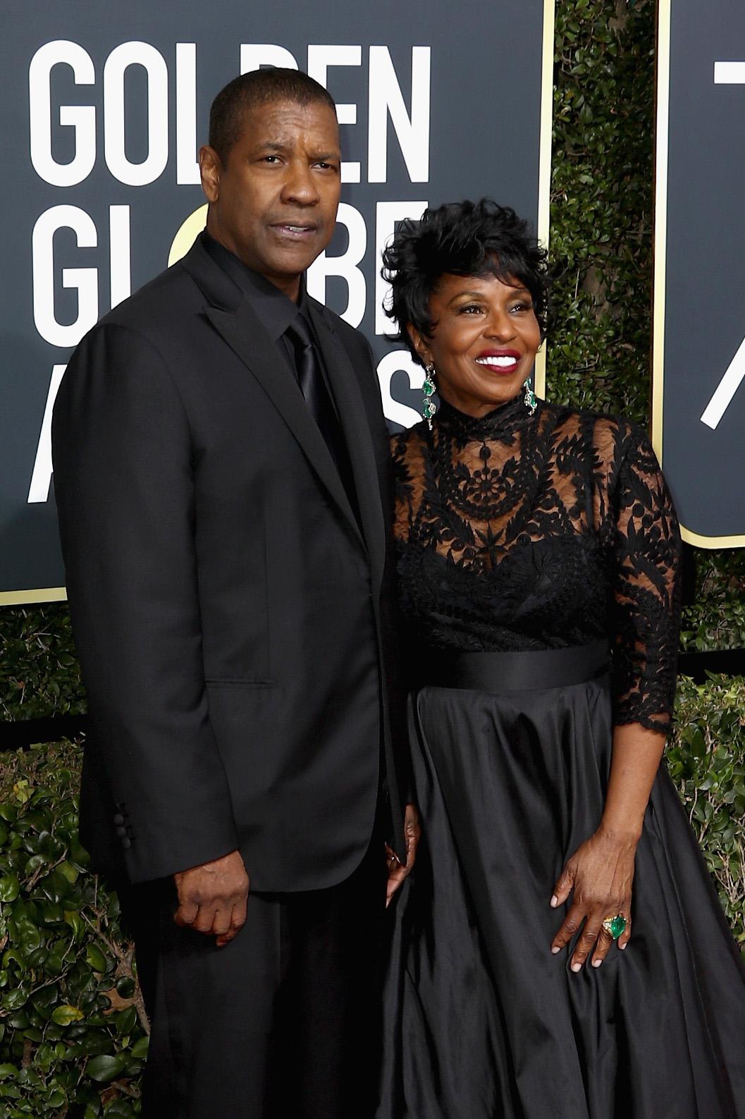 Denzel Washington and Pauletta Washington 2018 Golden Globes