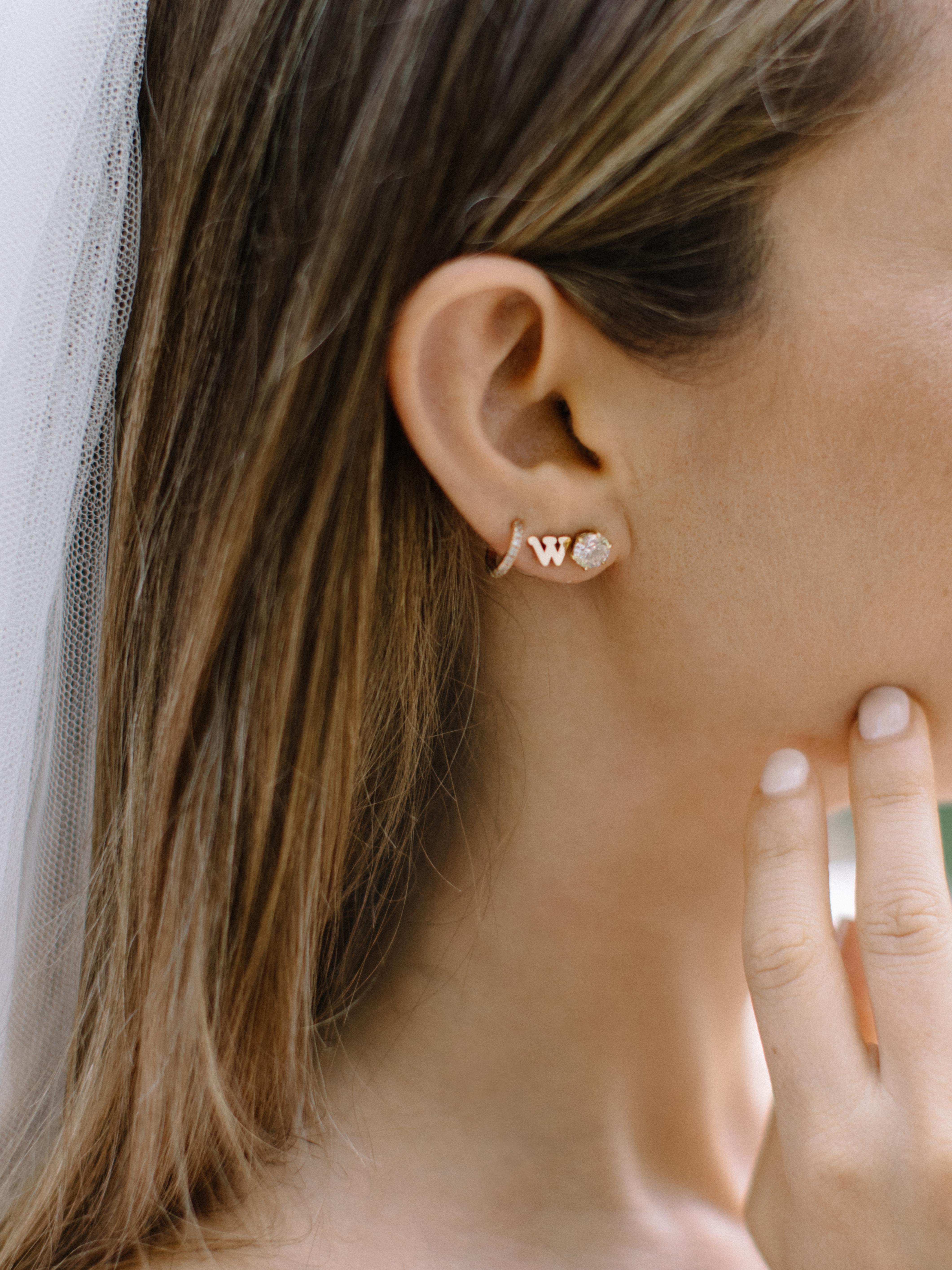 ariel trevor wedding tulum mexico earrings brides