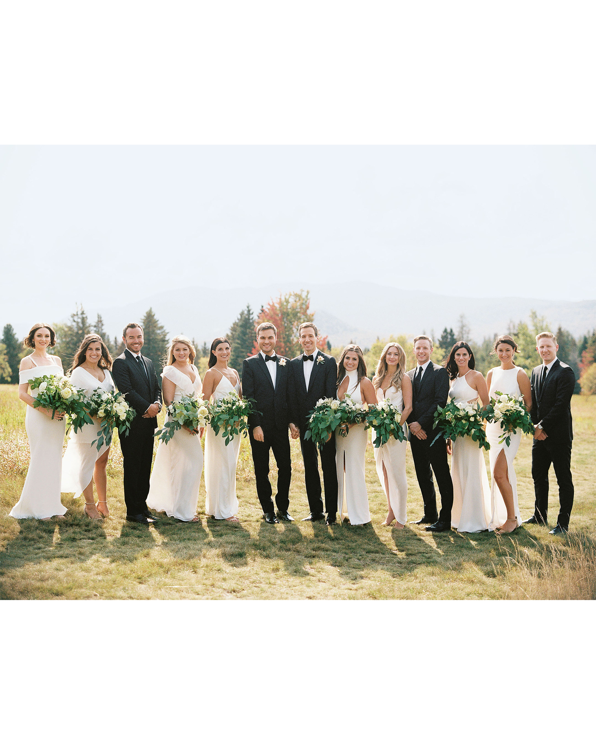 tory sean wedding lake placid new york wedding party