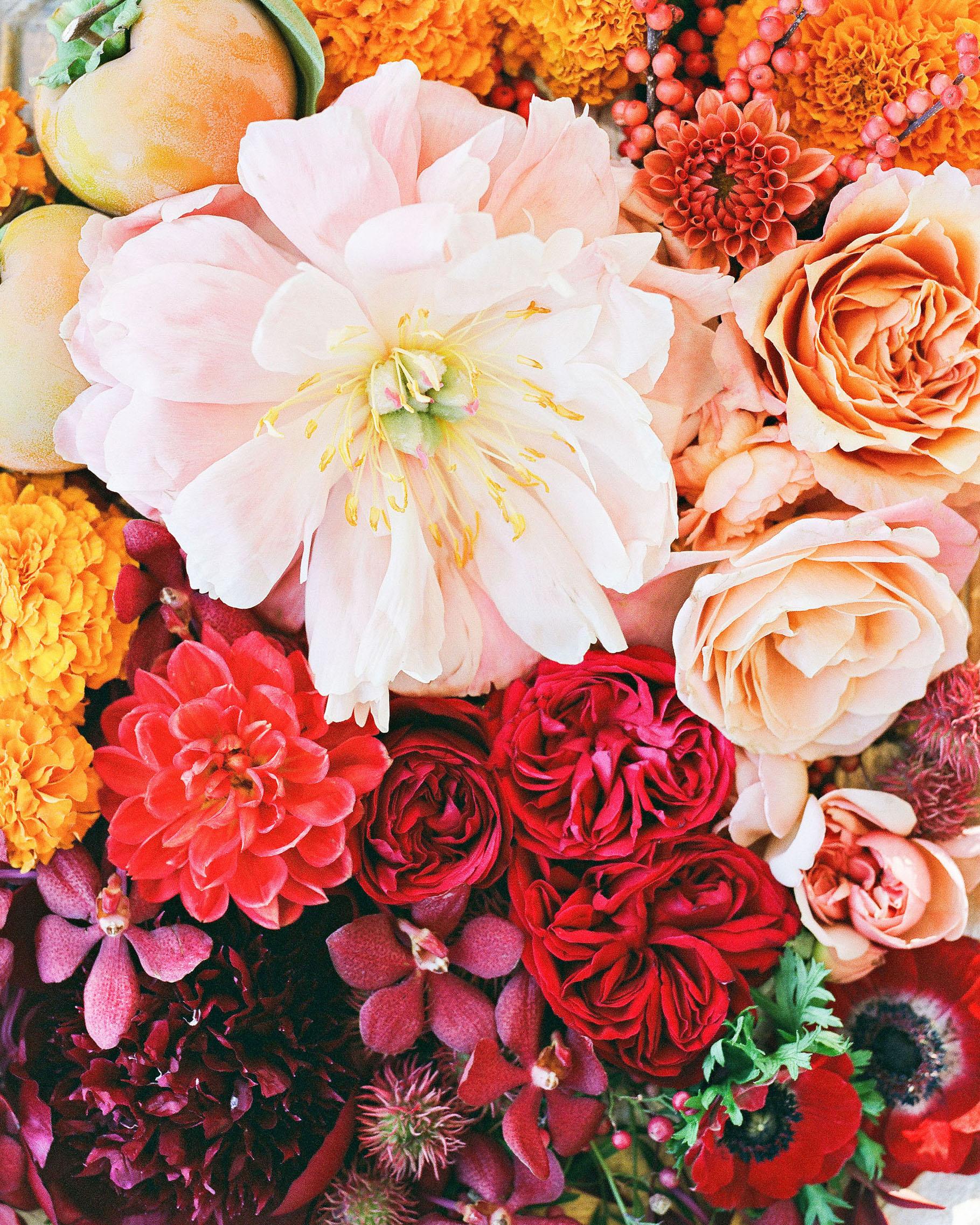 jenna alok wedding wine country california flower arrangement