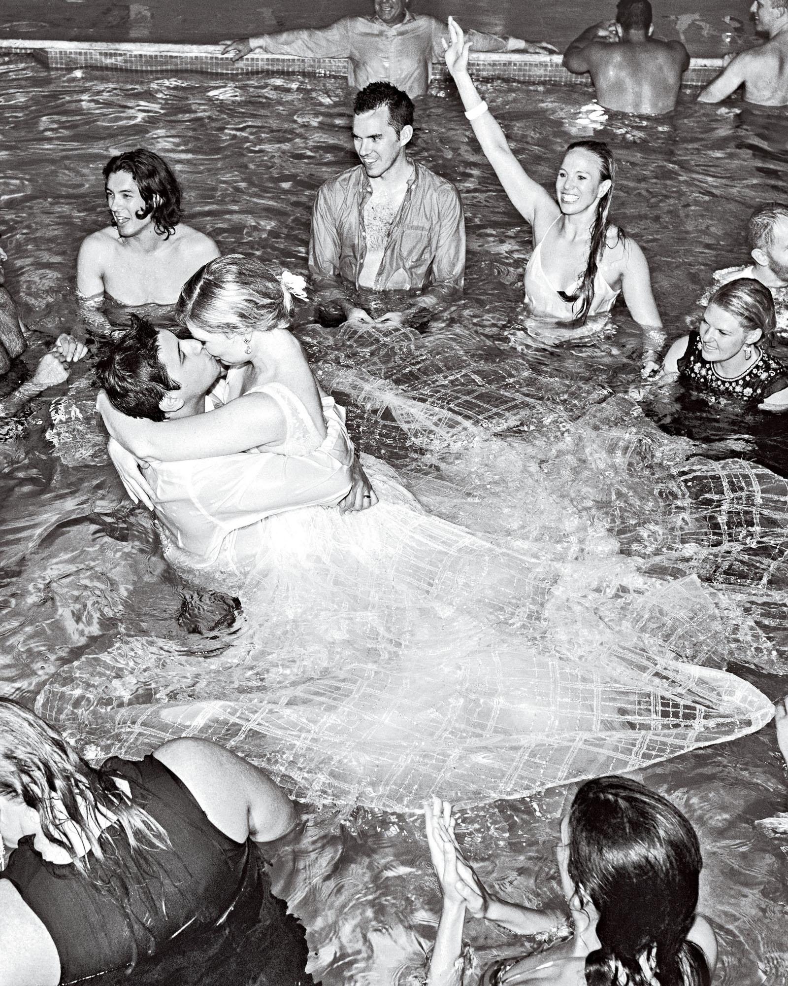 elizabeth sohale wedding dominican republic wedding party pool