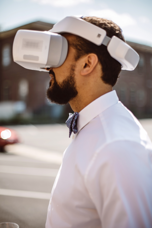 vasthy mason wedding groom wearing virtual reality headset