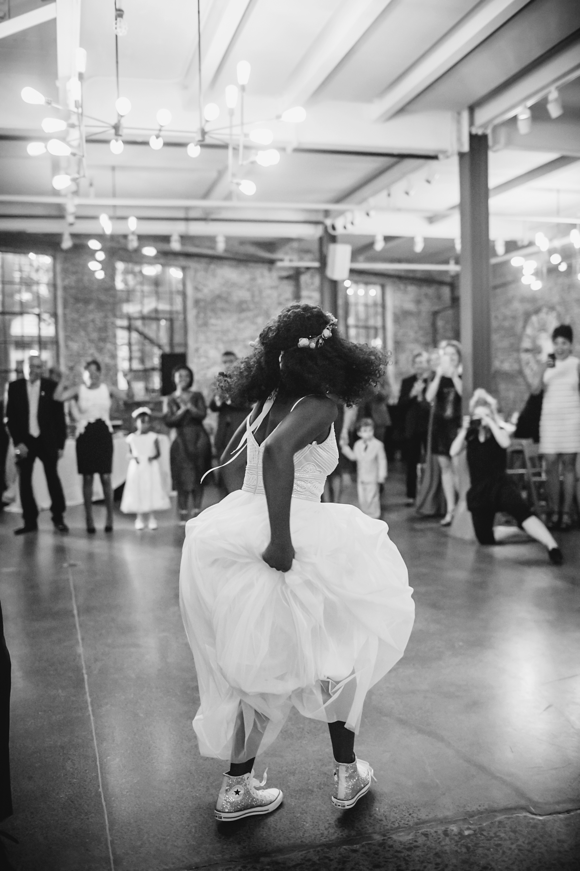 vasthy mason wedding bride dancing tennis shoes dress