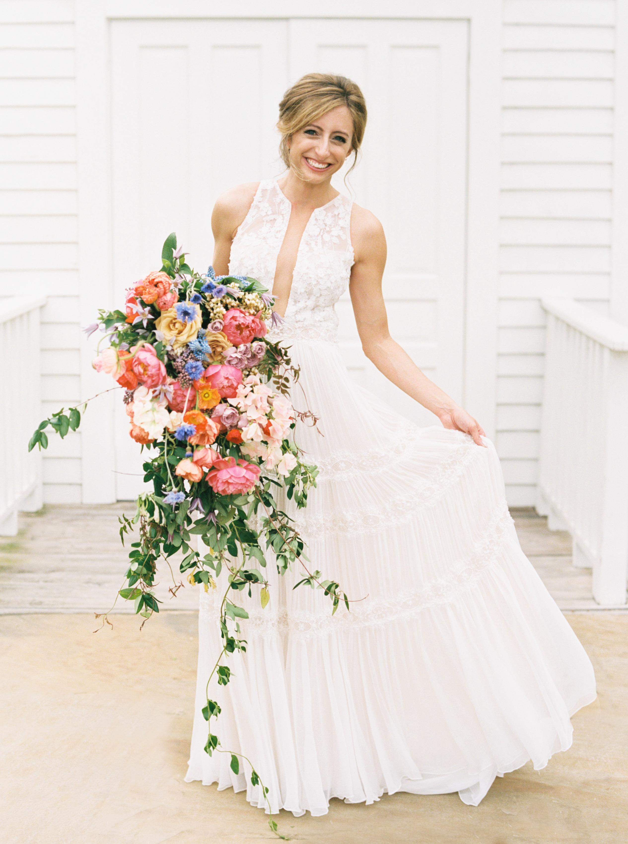 ashley adam wedding texas bride bouquet
