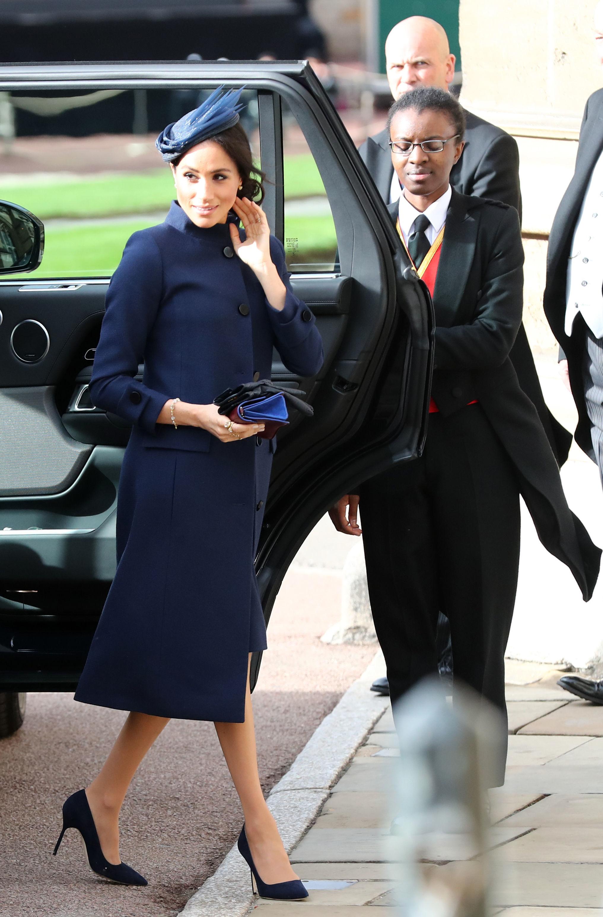 Meghan Markle at Princess Eugenie's 2018 royal wedding