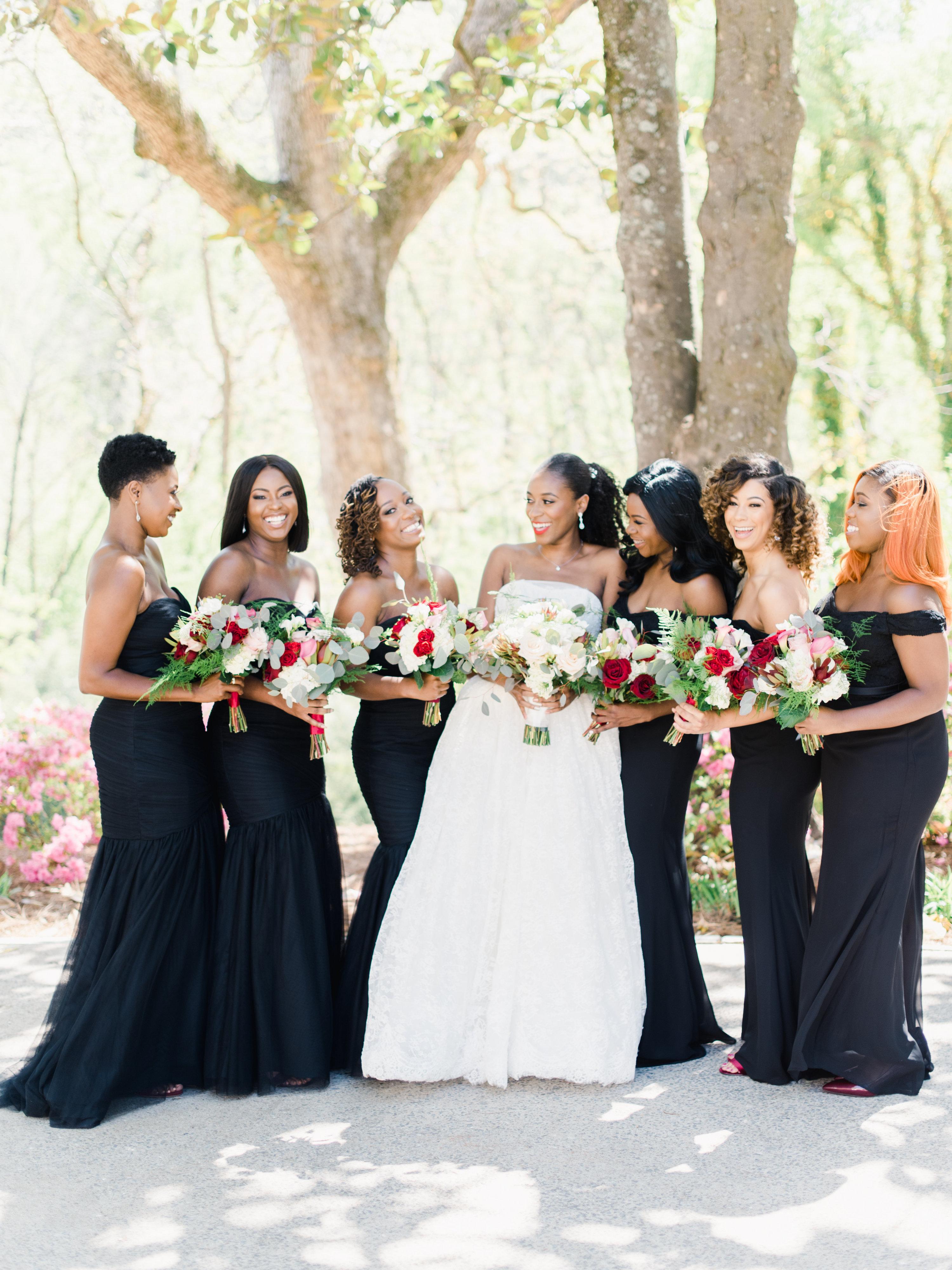 niara allen wedding bridesmaids