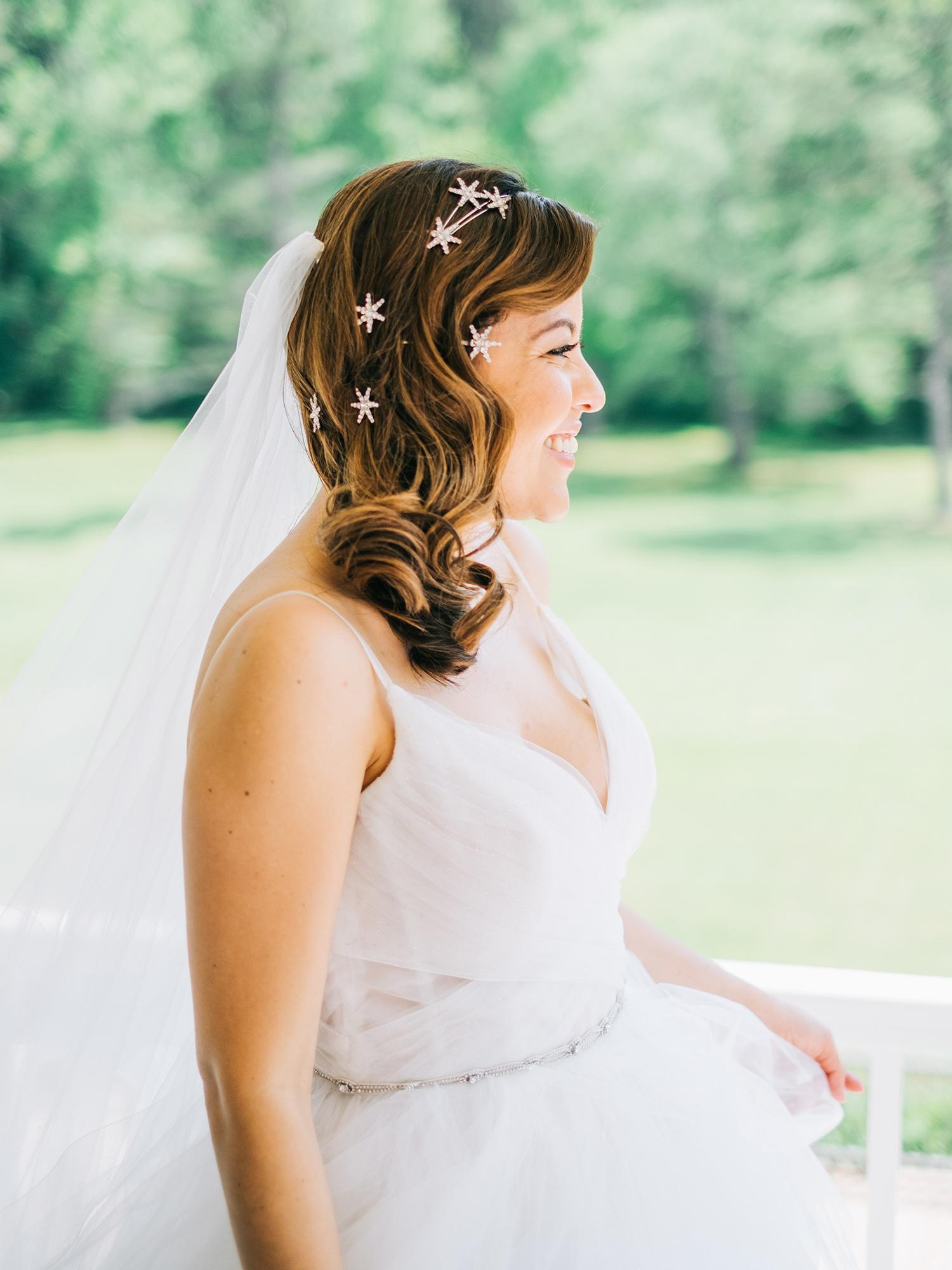 elizabeth jake georgia wedding bride hair stars