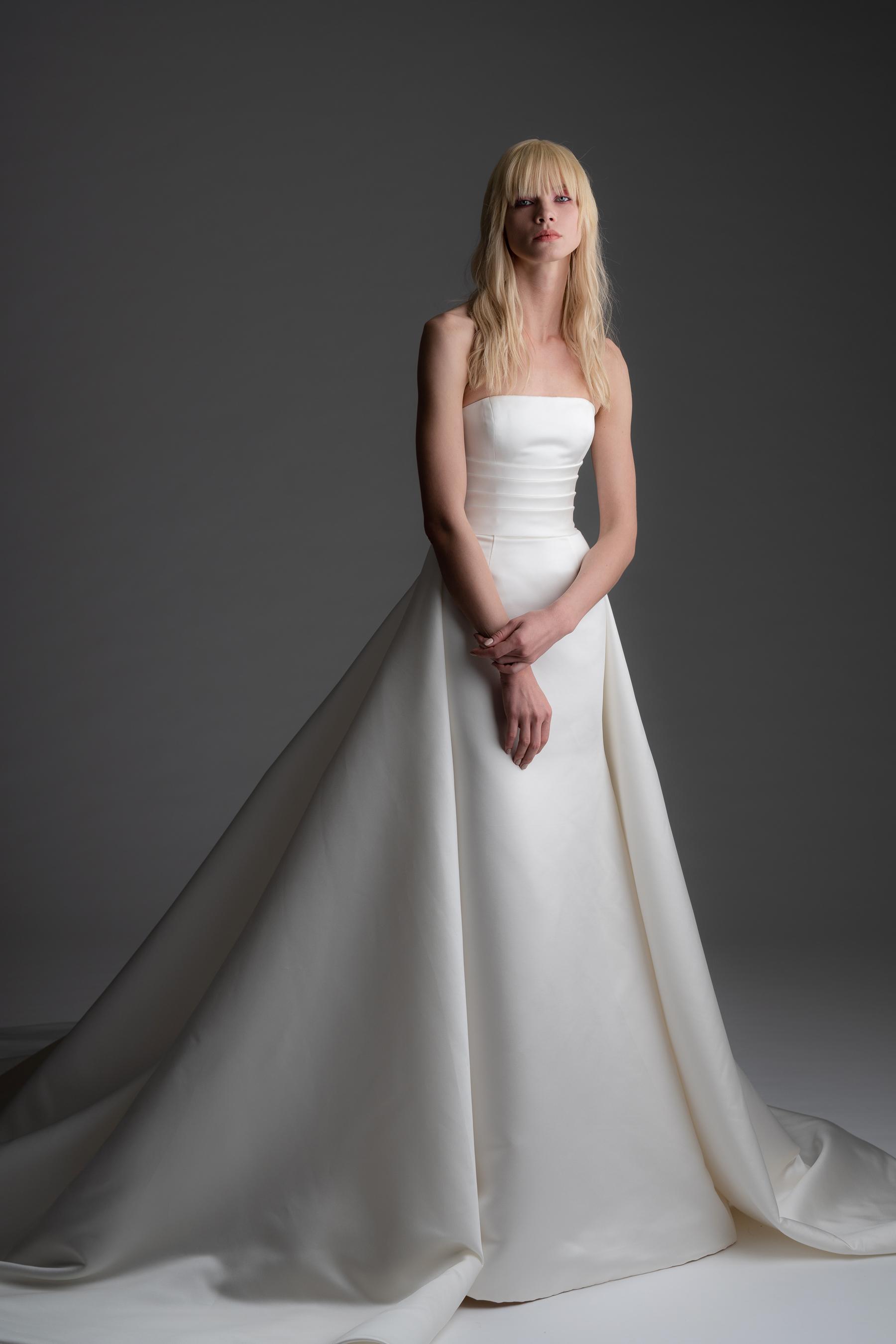 alyne rita vinieris fall 2019 strapless a-line gown with train