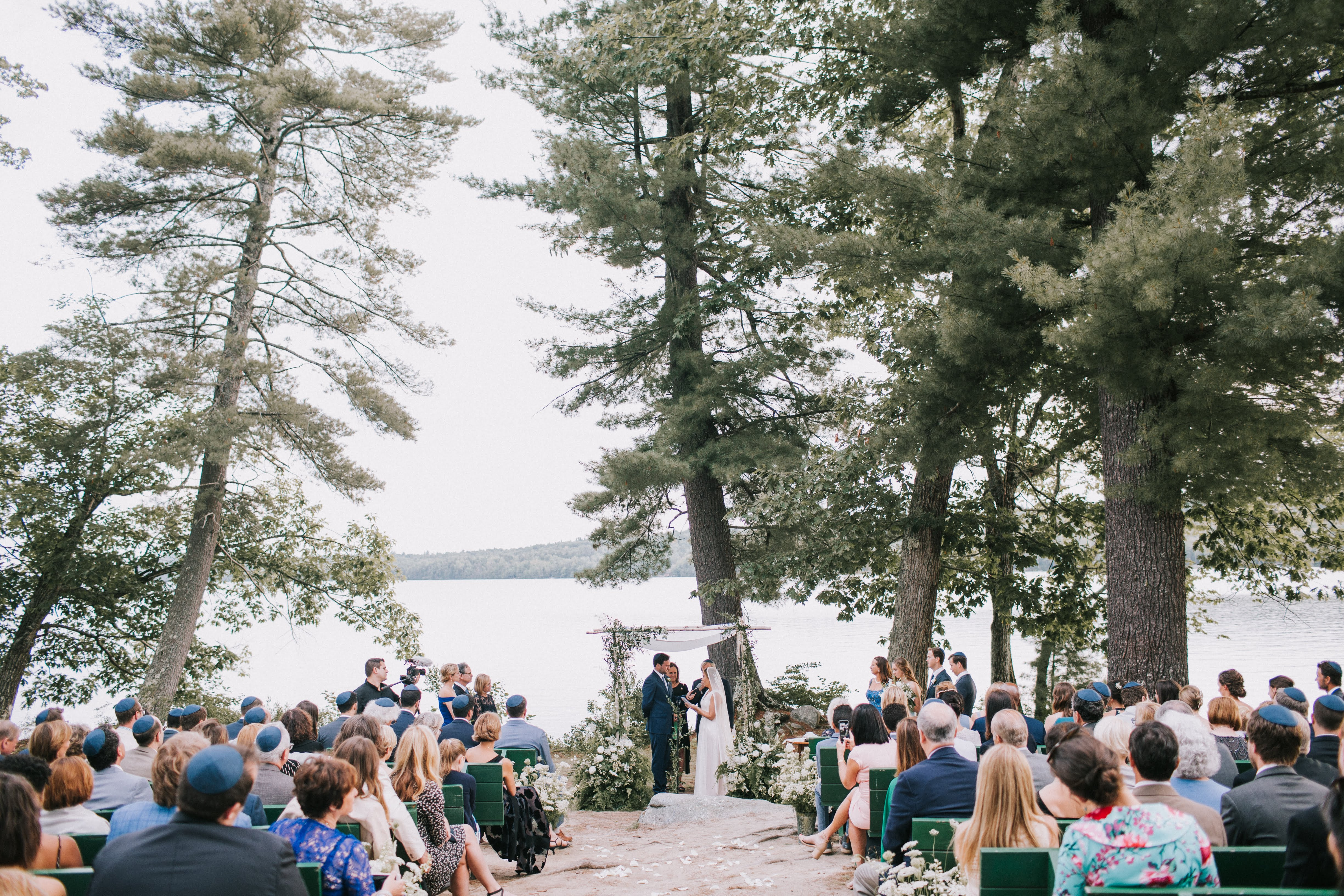 sofi ben camp weekend ceremony by the lake