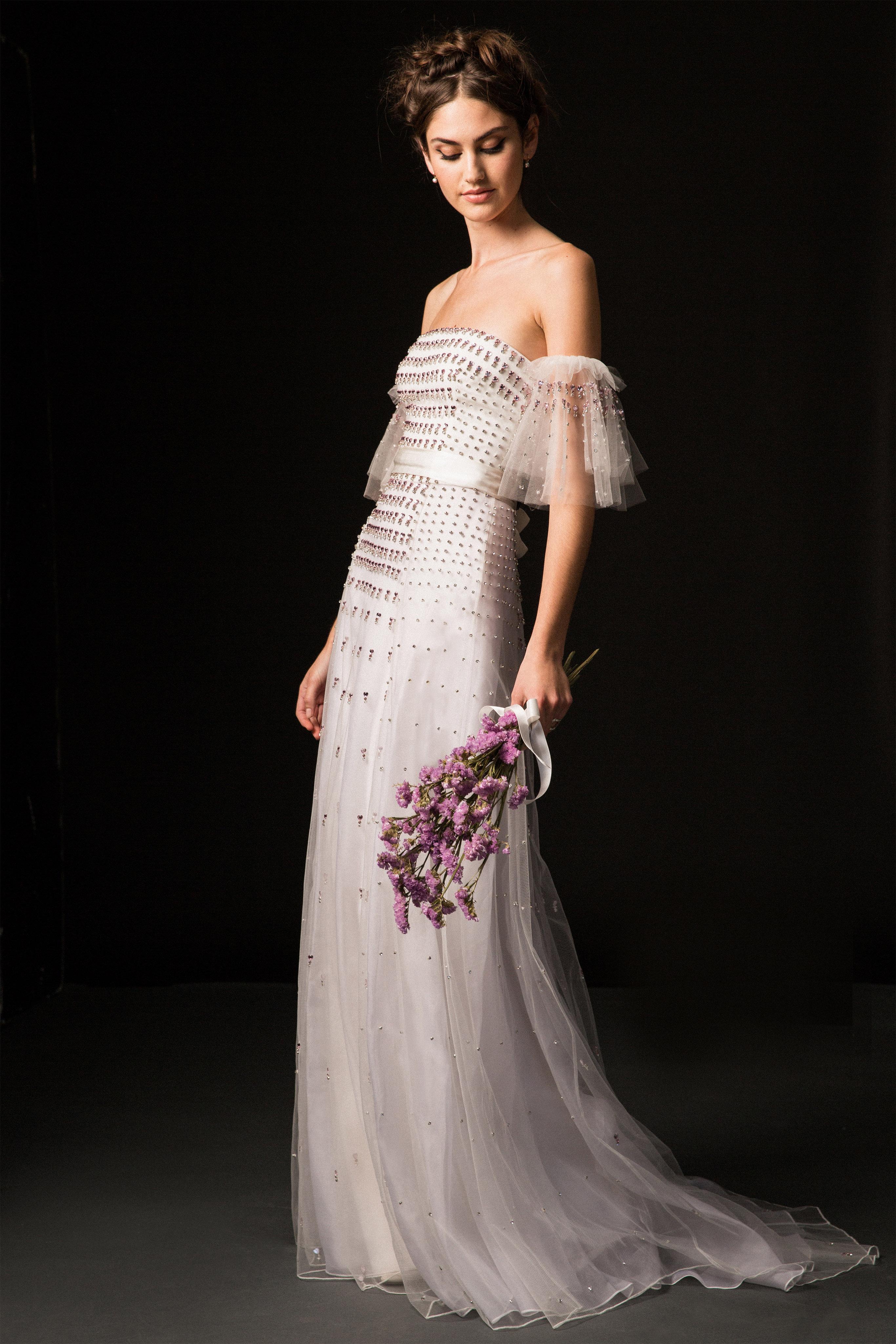 temperley fall 2019 over the shoulder beaded wedding dress