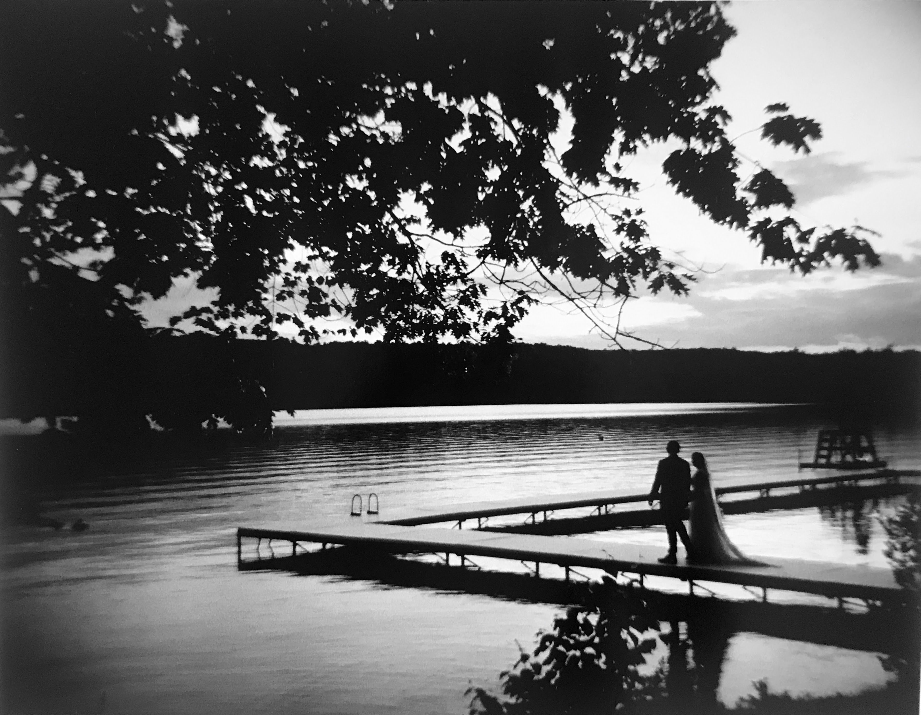 sofi ben camp wedding couple walking on dock