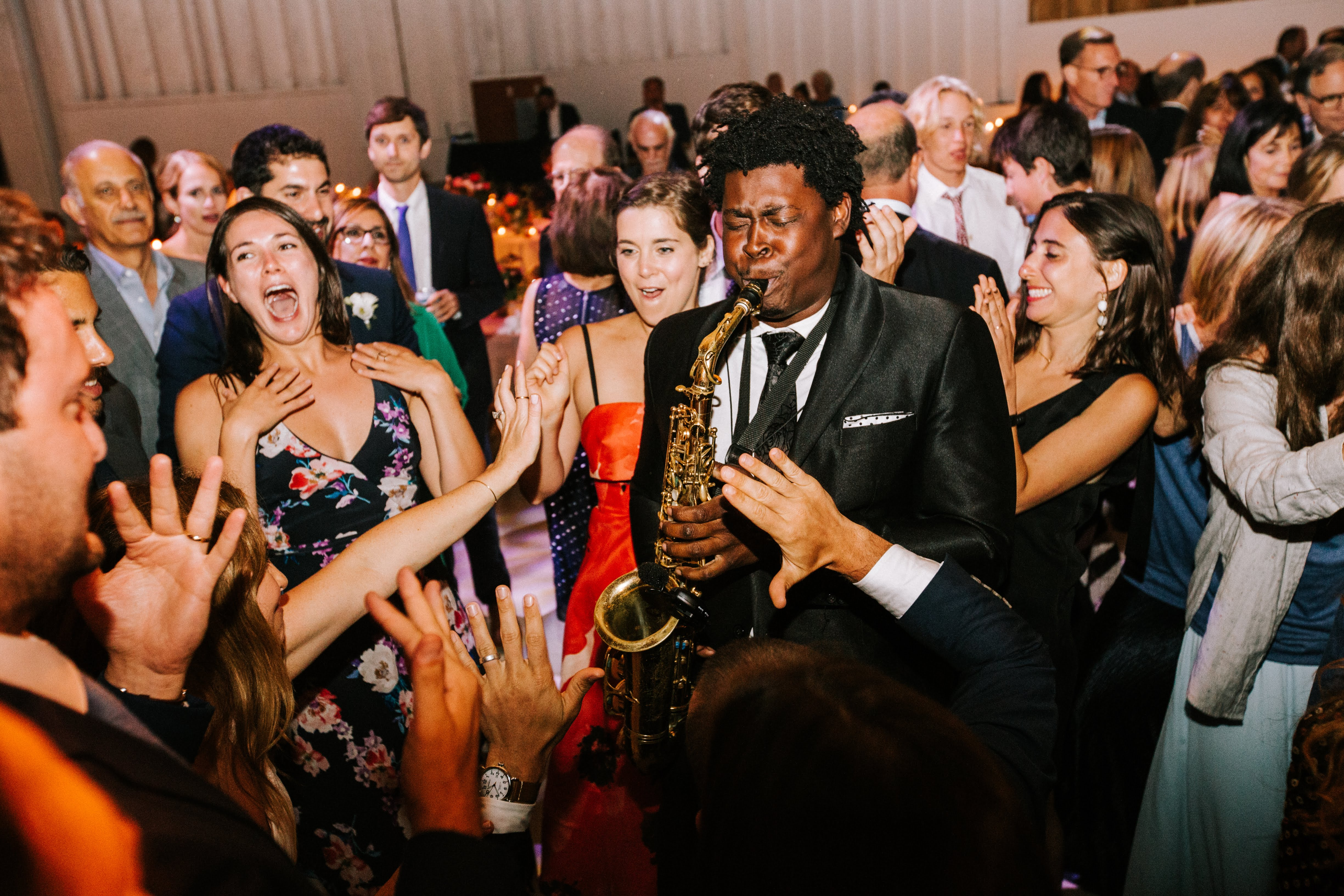sofi ben camp wedding saxophone player