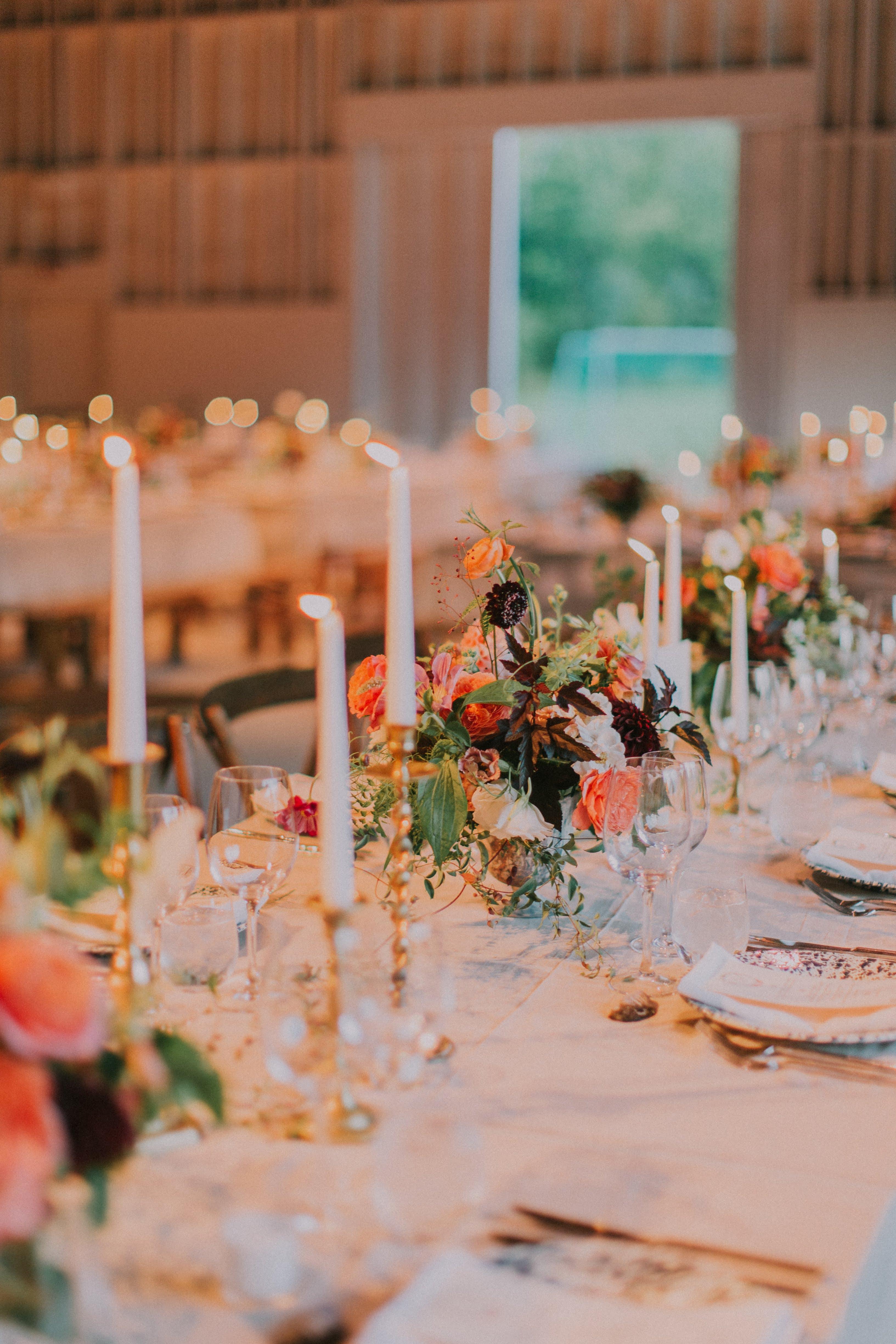 sofi ben camp wedding reception table setting