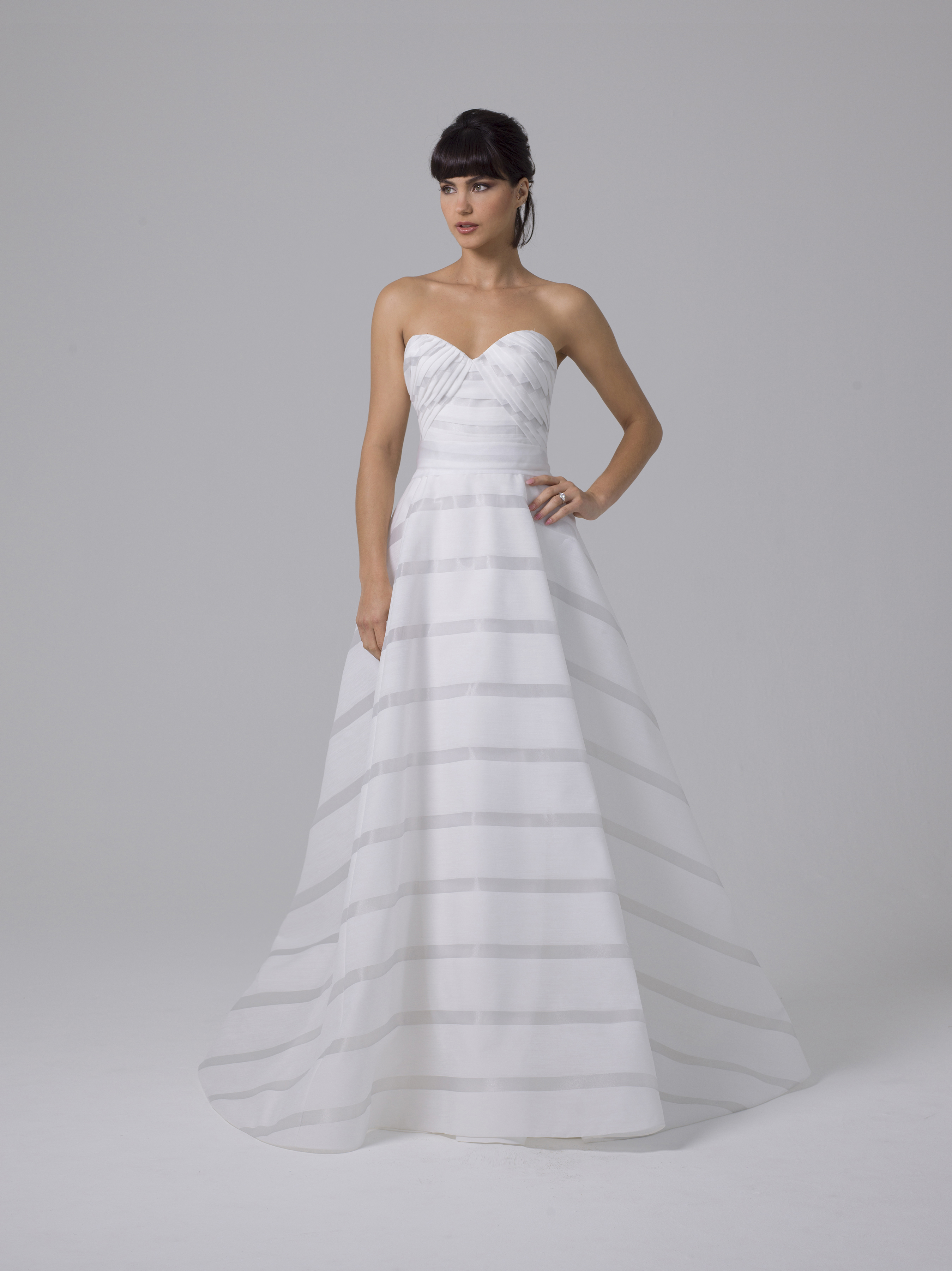 Liancarlo wedding dress with horizontal stripes fall 2019
