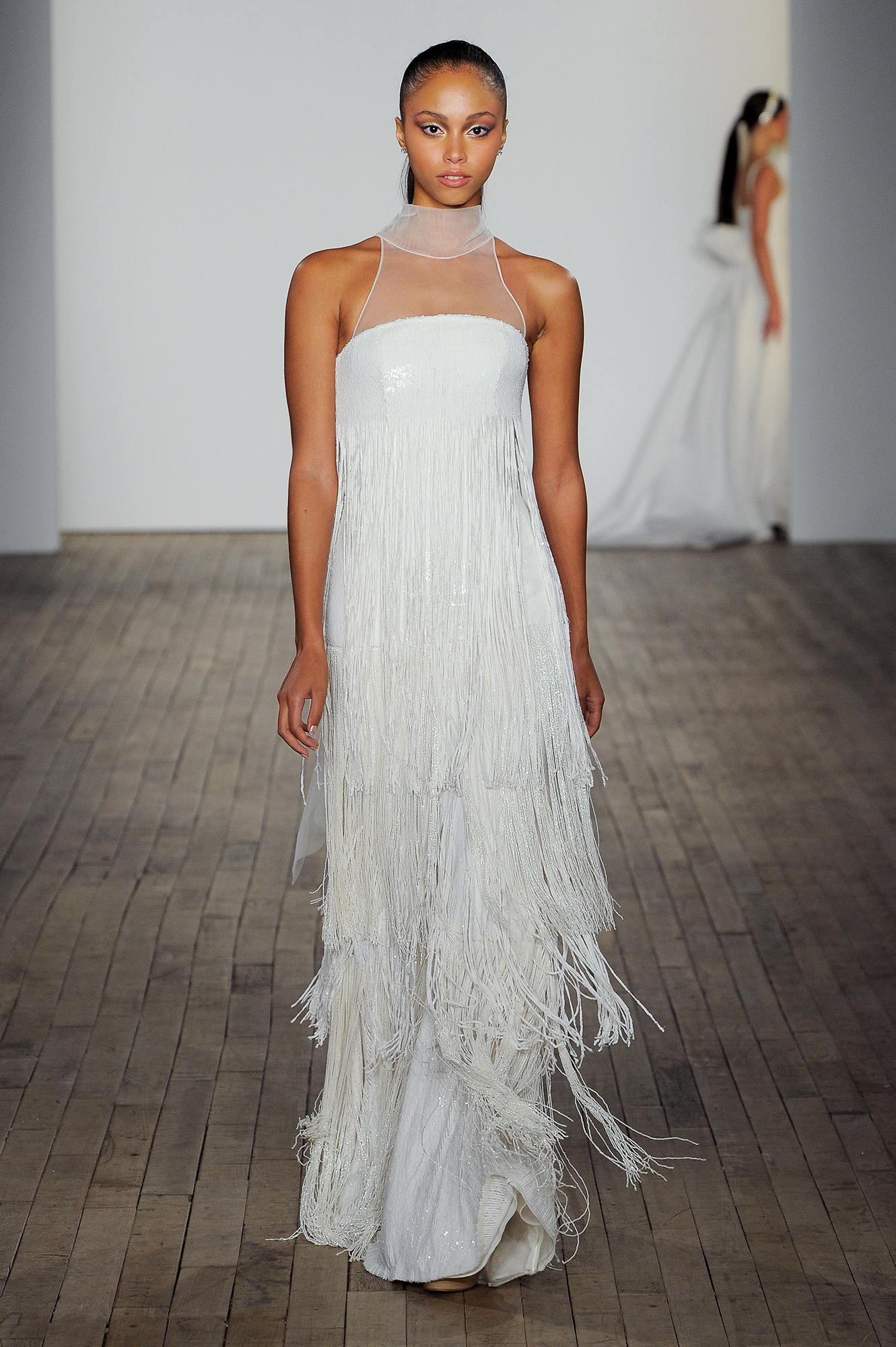 allison webb wedding dress illusion fringe tiers