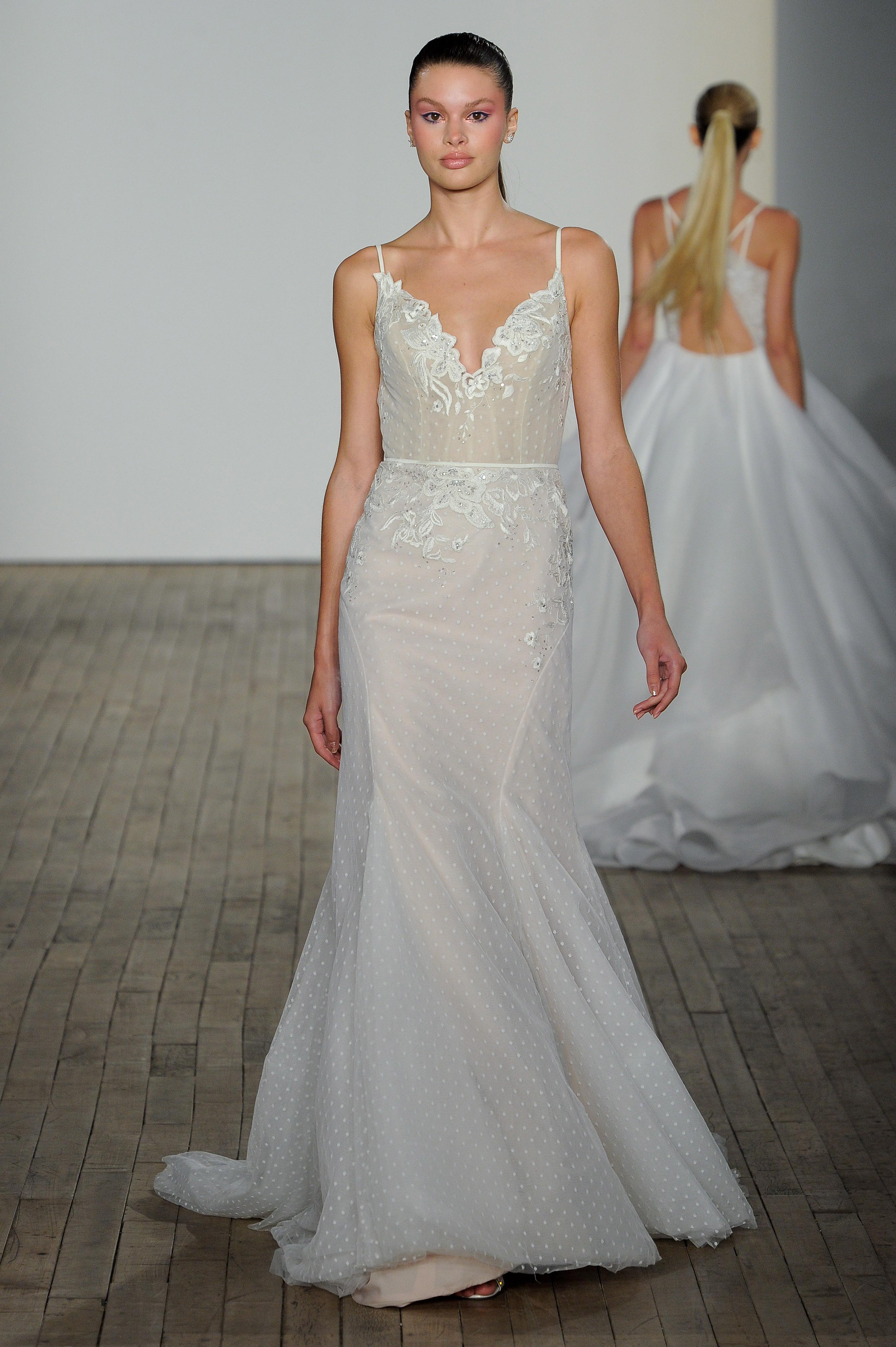 haley paige fall 2019 spaghetti strap mermaid wedding dress