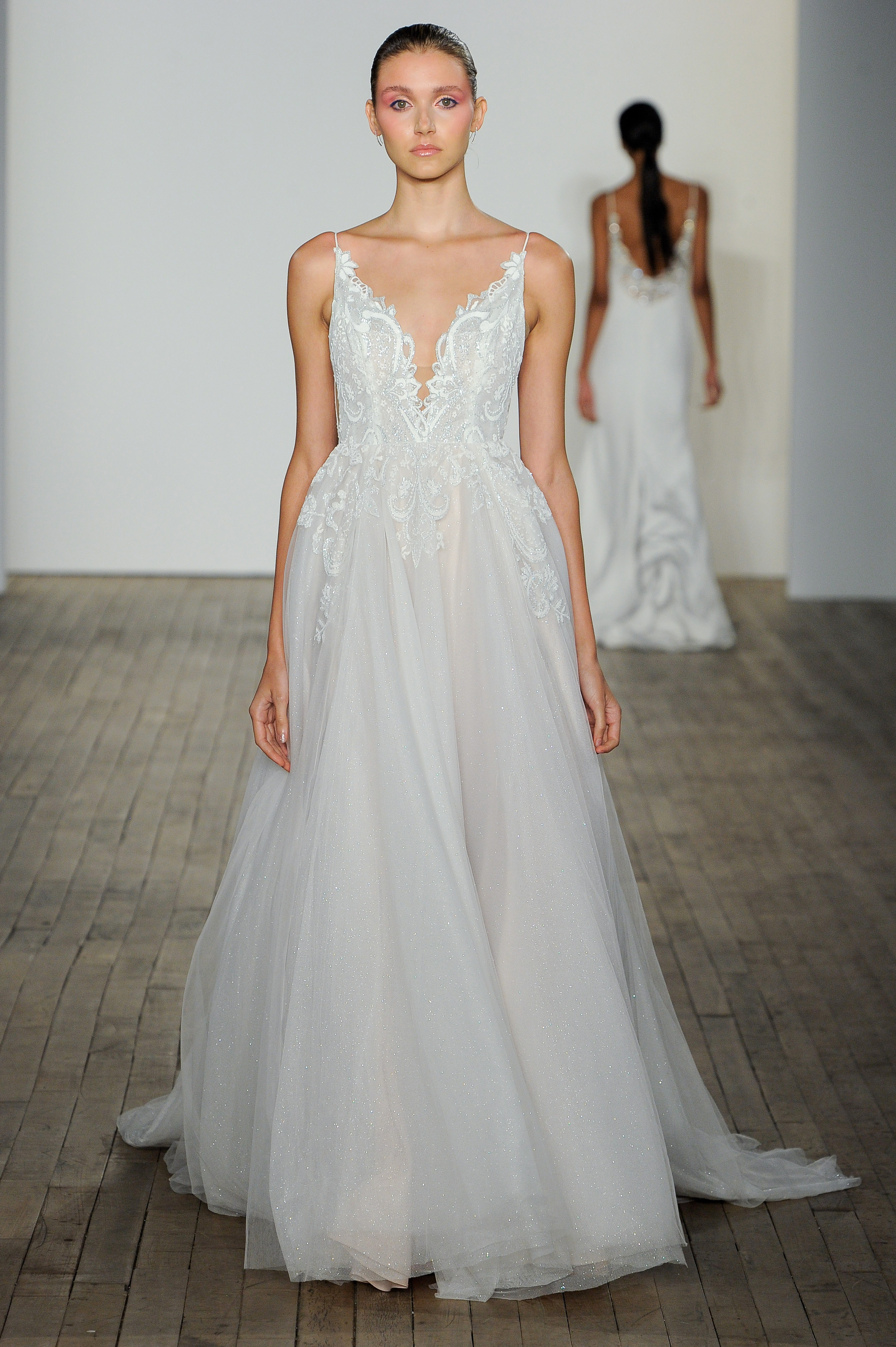 haley paige fall 2019 v-neck sheath wedding dress