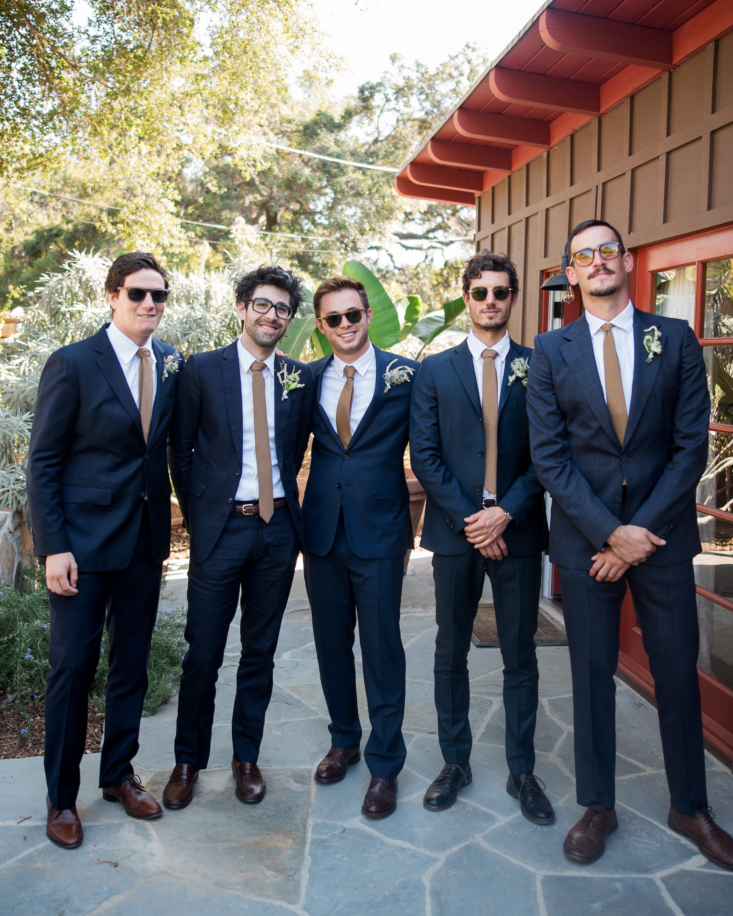 anika max wedding groomsmen wearing sunglasses