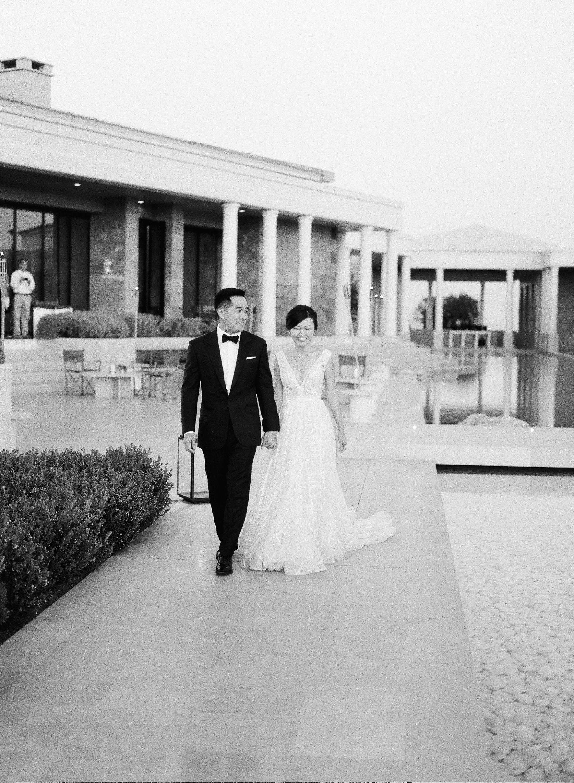 sze amanzoe wedding reception entrance greece elegant