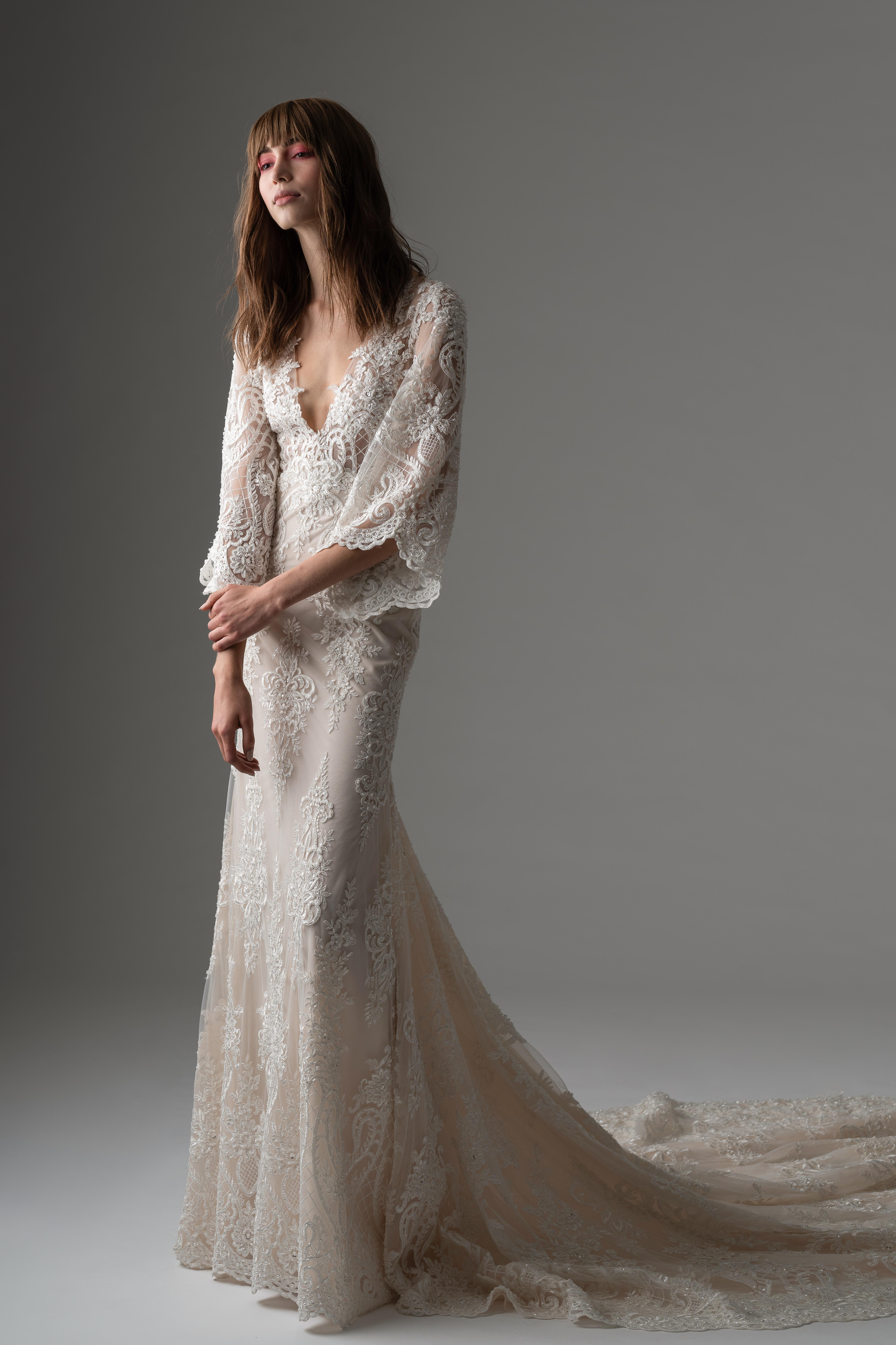 rivini by rita fall 2019 v-neck trumpet wedding dress