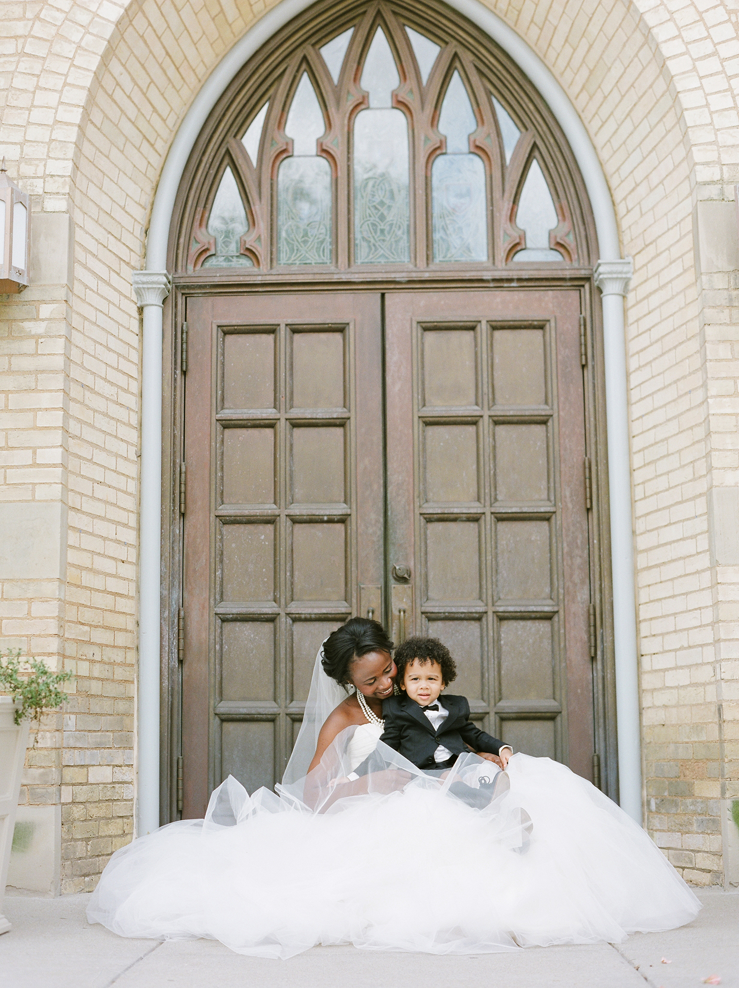 anwuli patrick wedding ring bearer and bride