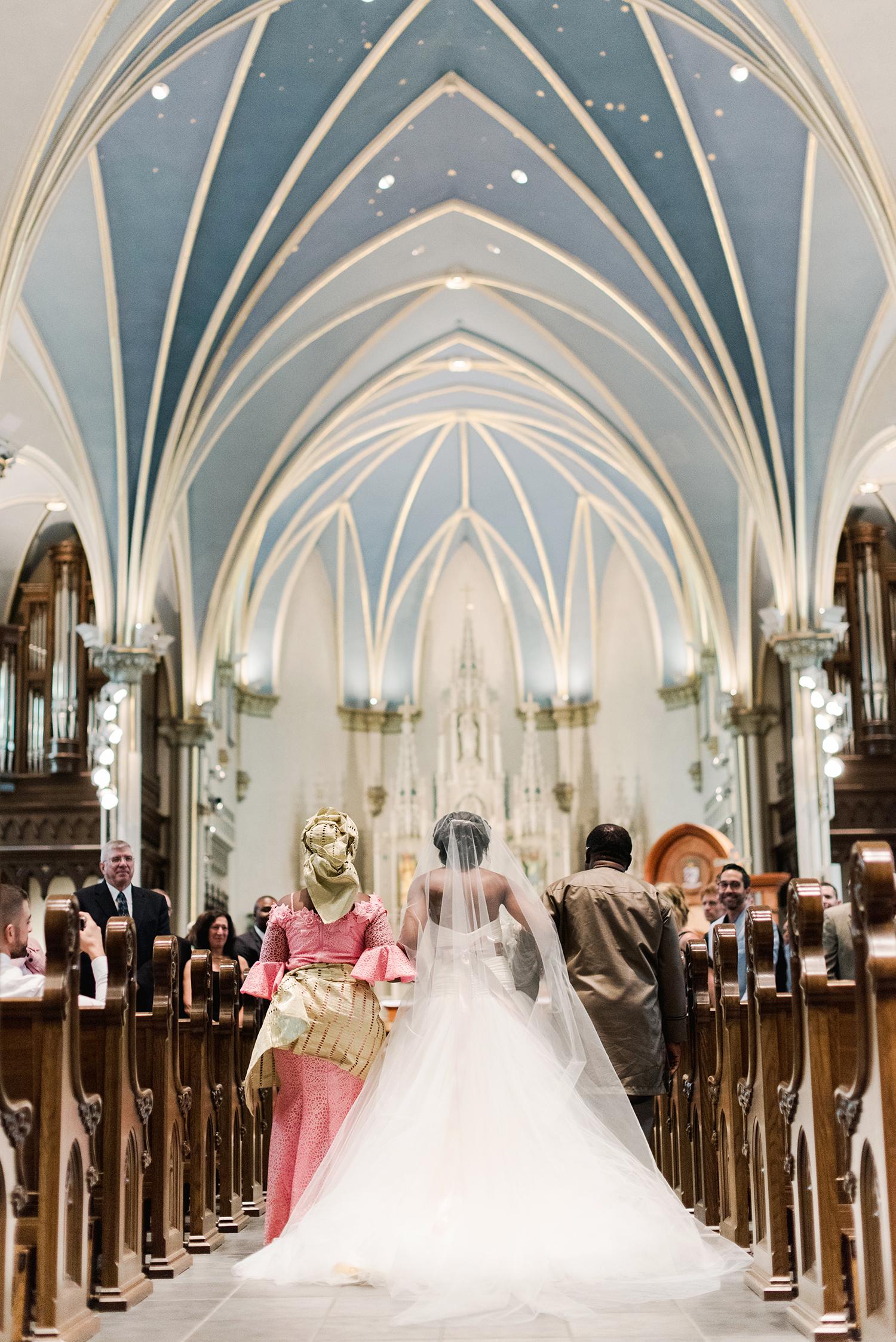 anwuli patrick wedding processional in church
